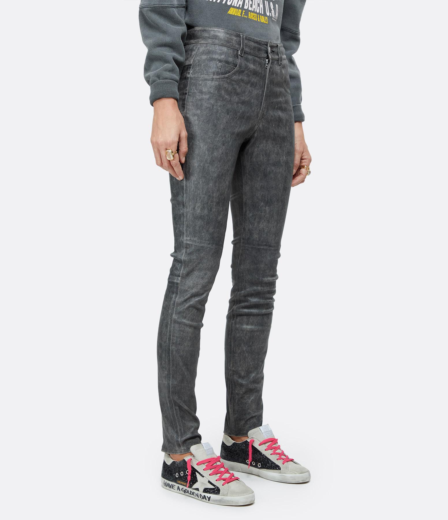 ISABEL MARANT ÉTOILE - Pantalon Taro Cuir Noir