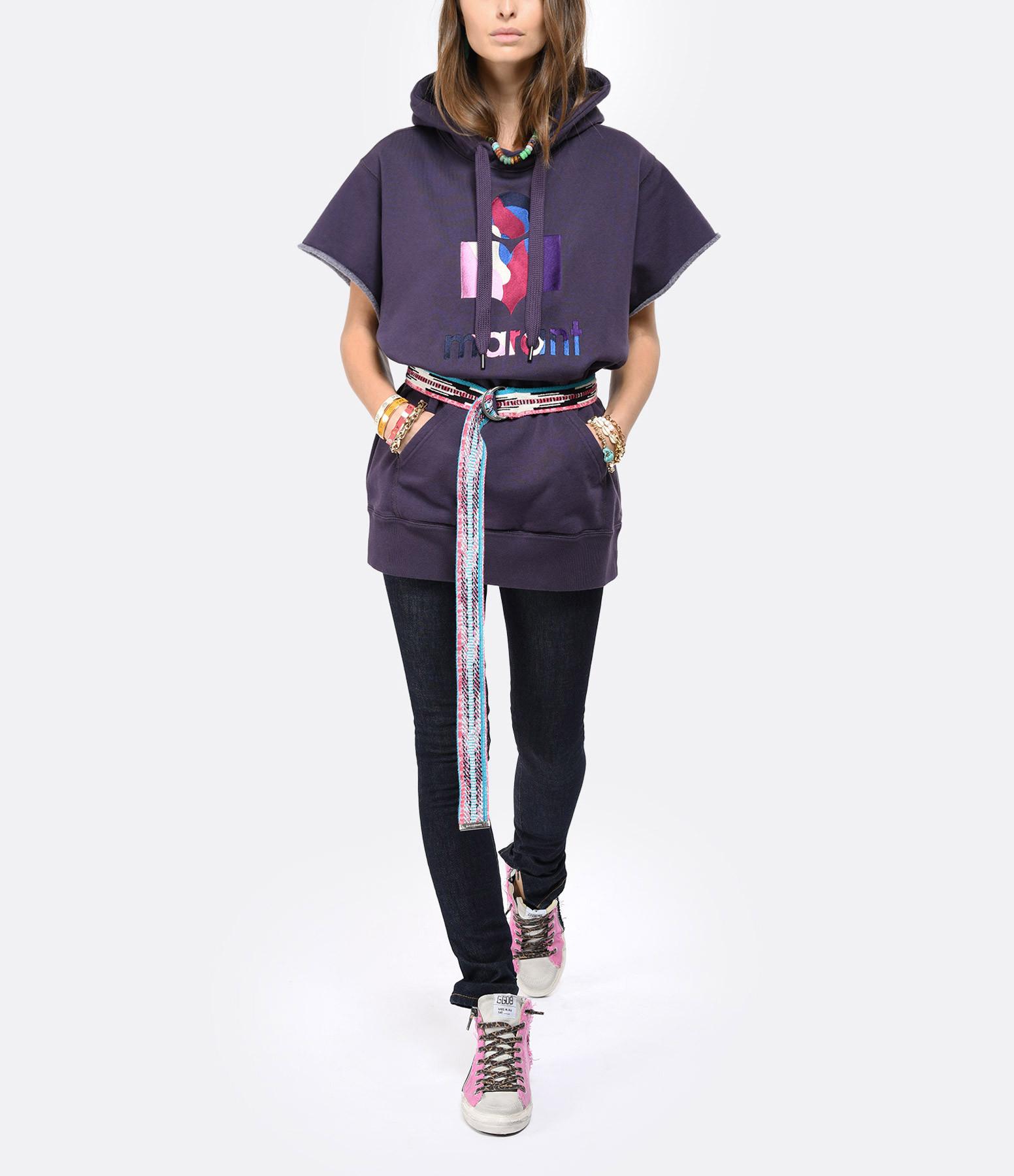 ISABEL MARANT ÉTOILE - Sweatshirt Milesy Coton Bleu Nuit