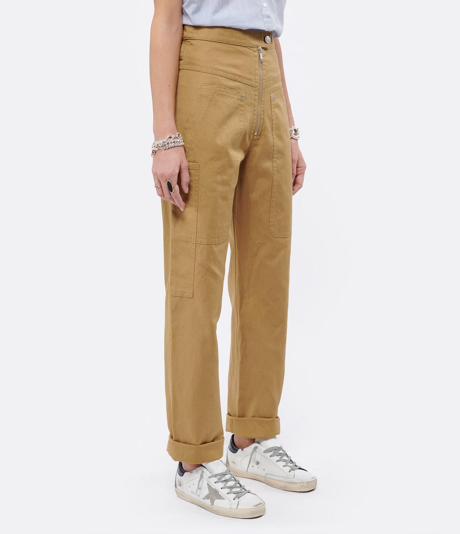 ISABEL MARANT ÉTOILE - Pantalon Phil Coton Lin Camel