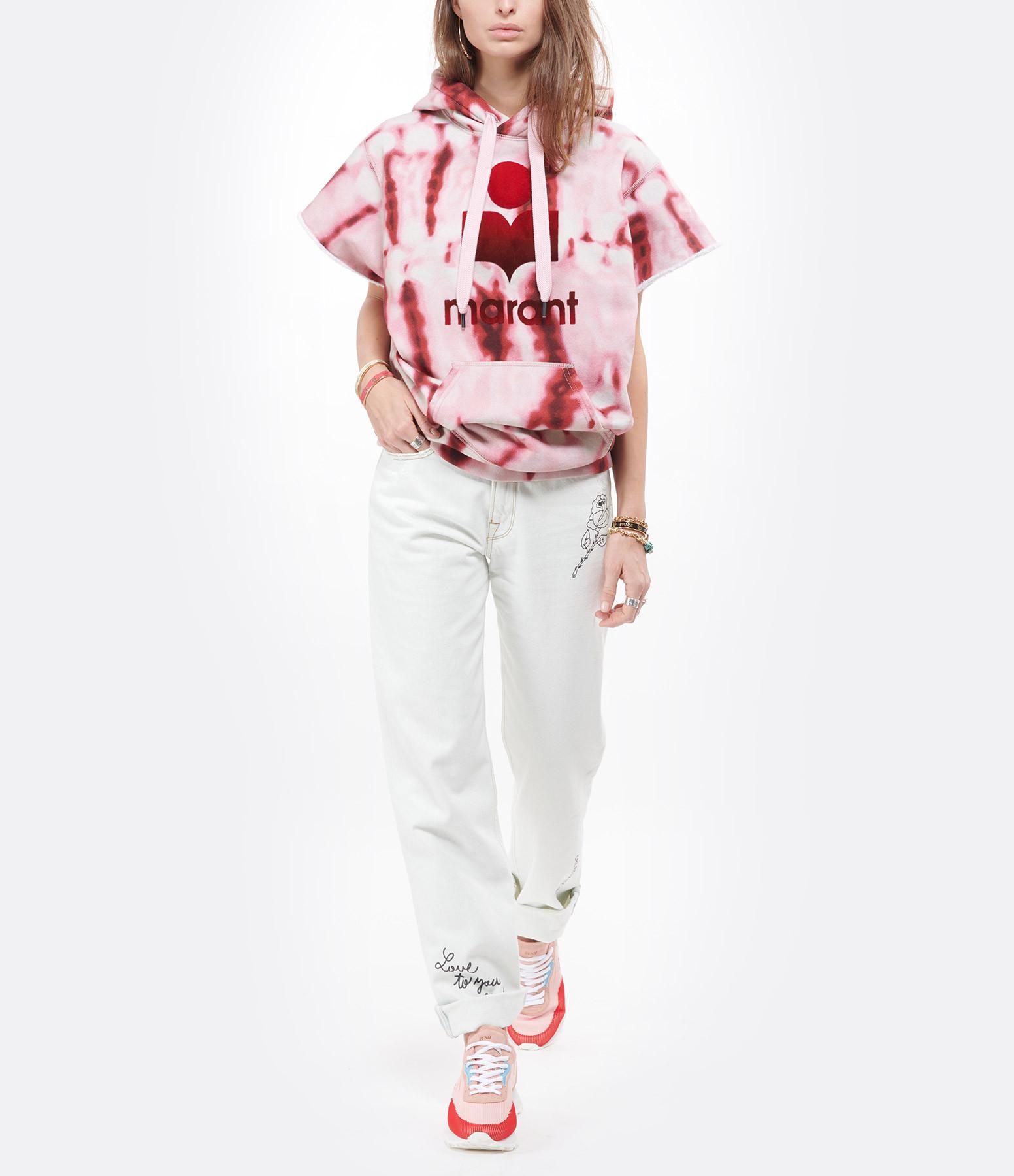ISABEL MARANT ÉTOILE - Sweatshirt Milesy Coton Rouge