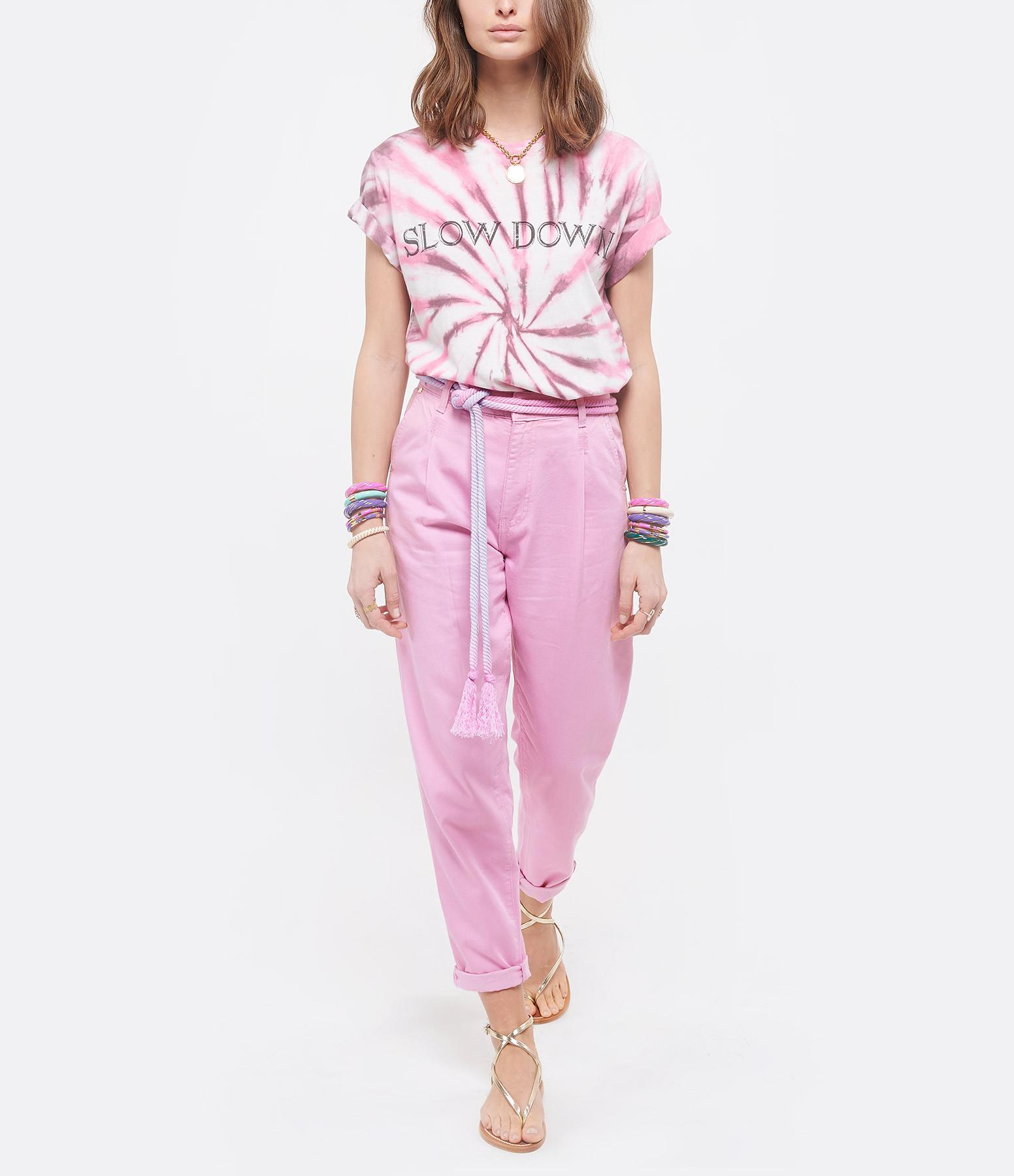 ISABEL MARANT ÉTOILE - Tee-shirt Zewel Coton Tie and Dye Rose