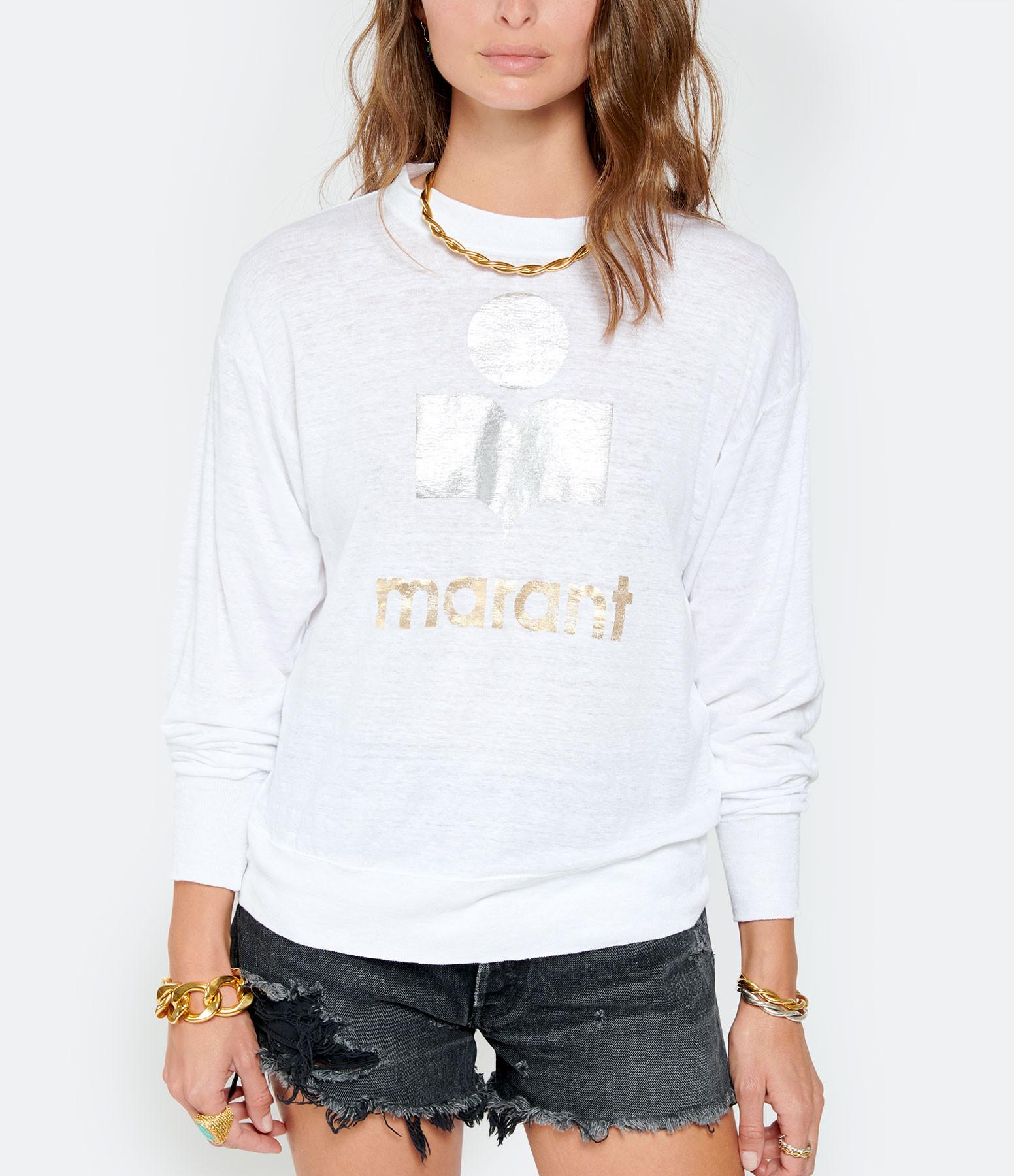 ISABEL MARANT ÉTOILE - Tee-shirt Klowia Lin Blanc