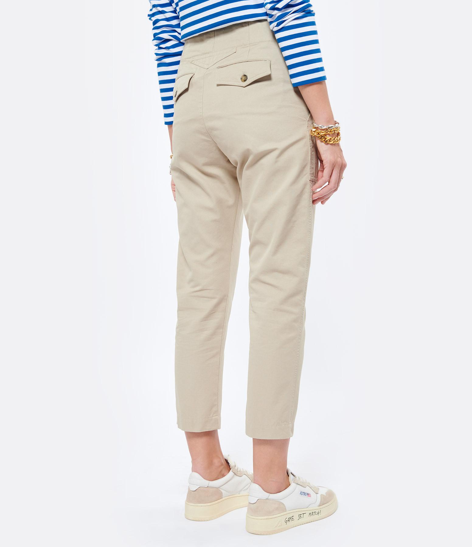 ISABEL MARANT ÉTOILE - Pantalon Pralunia Coton Beige