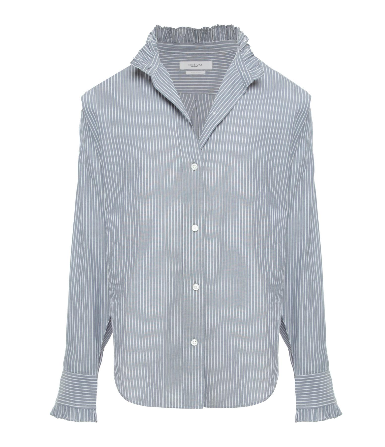 ISABEL MARANT ÉTOILE - Chemise Saoli Coton Bleu