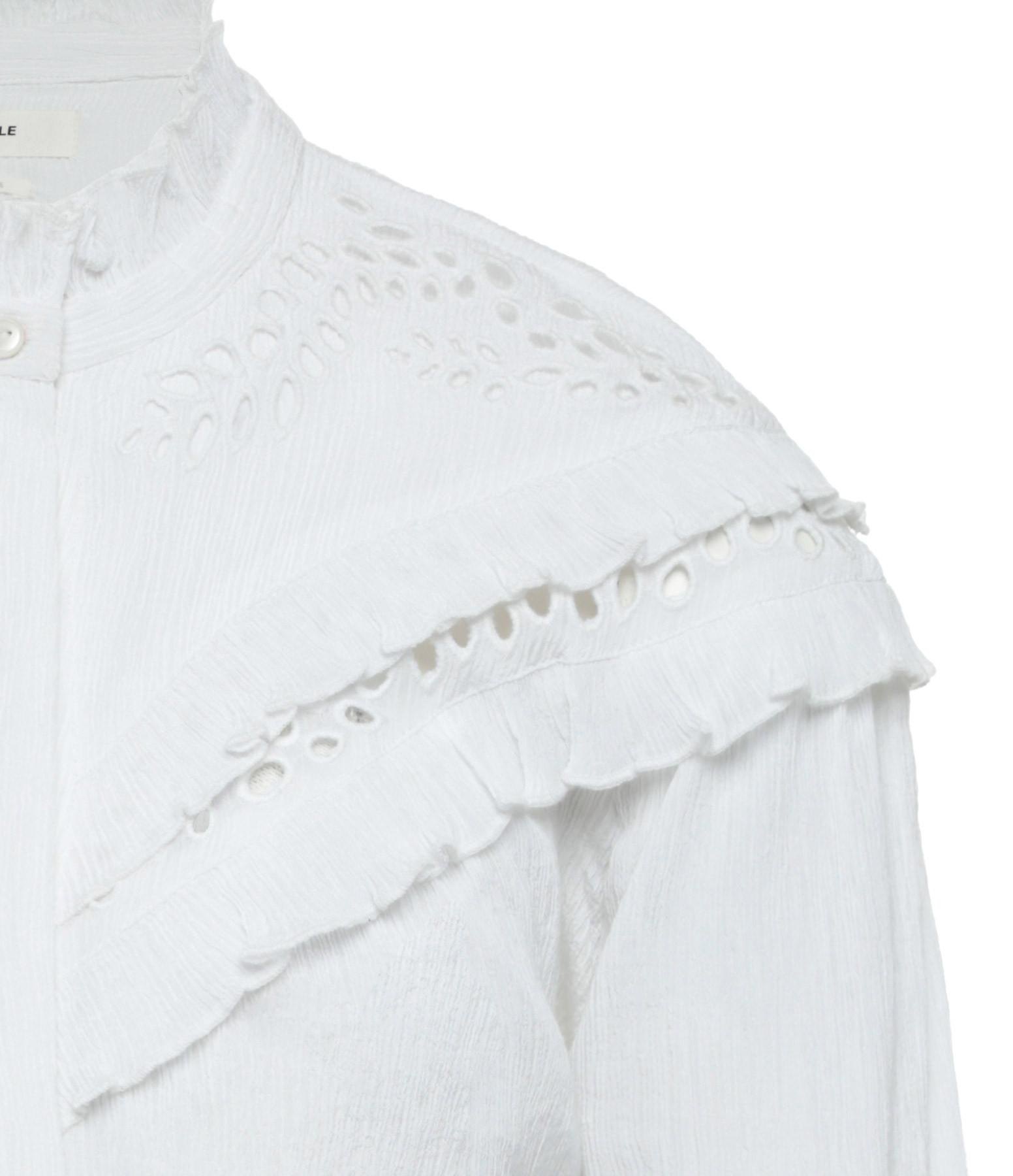 ISABEL MARANT ÉTOILE - Blouse Izae Coton Blanc