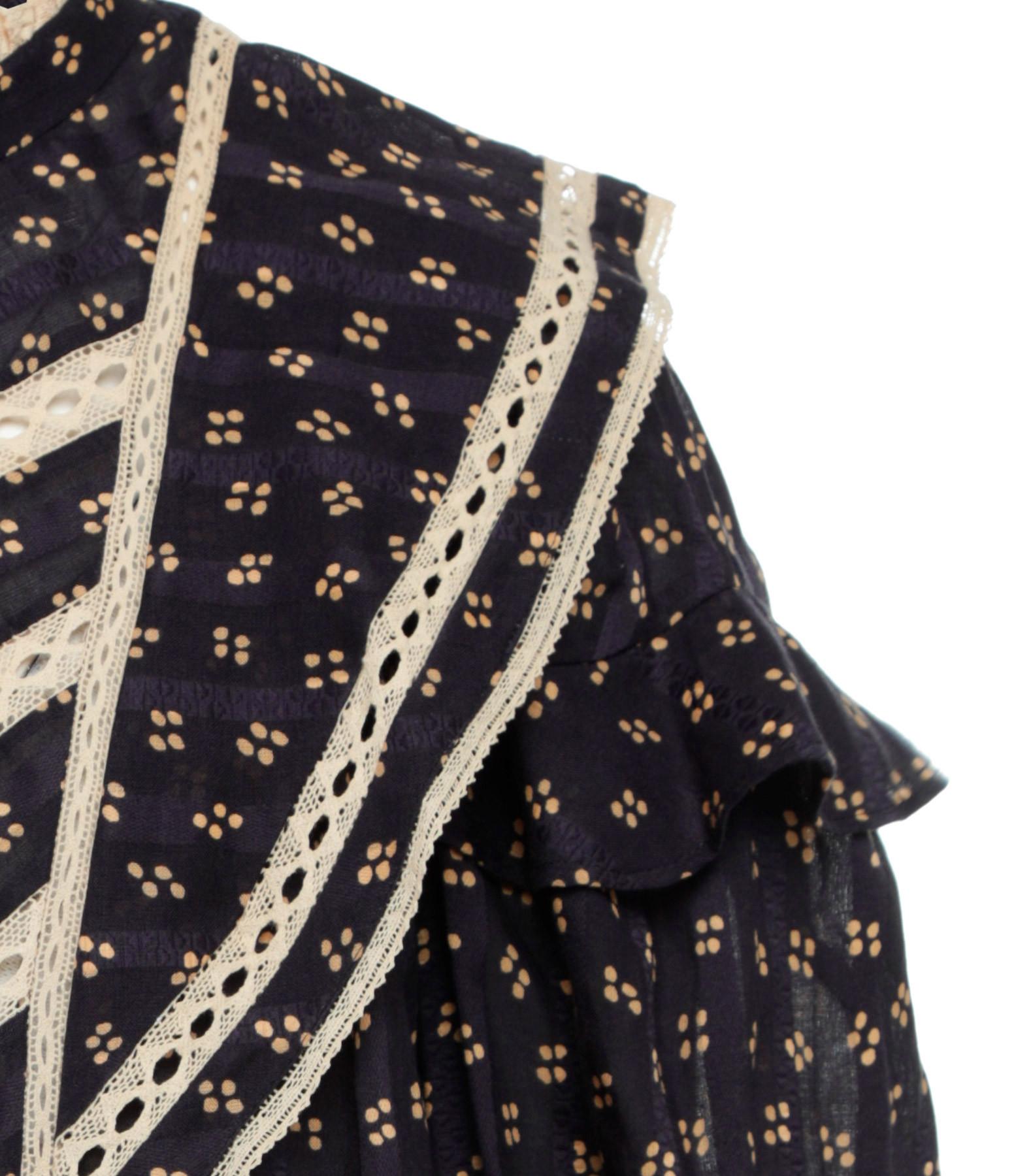 ISABEL MARANT ÉTOILE - Blouse Reign Coton Noir