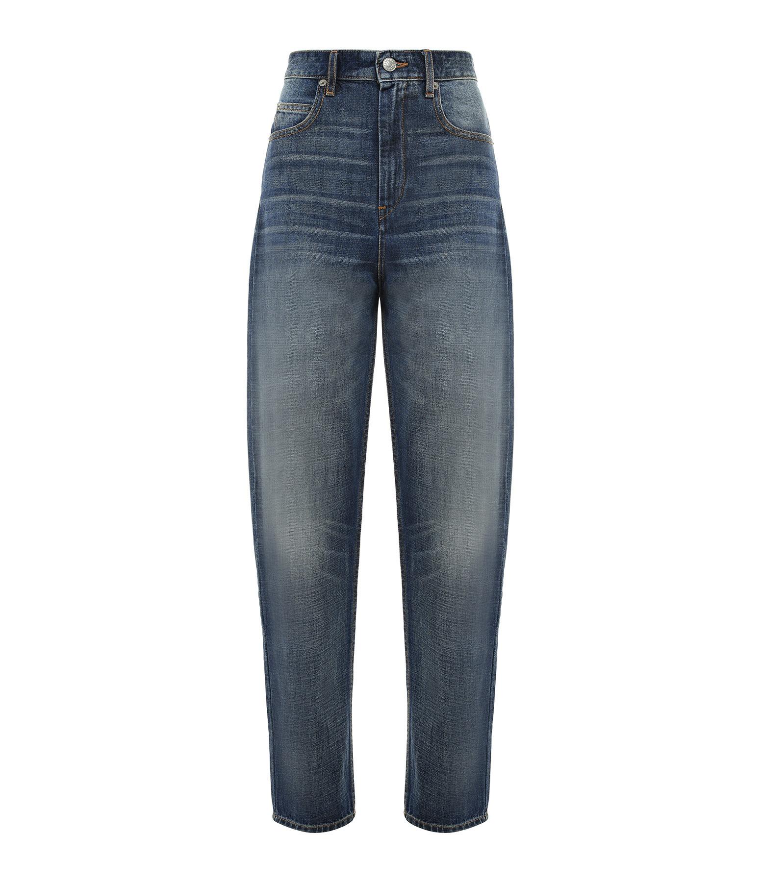 ISABEL MARANT ÉTOILE - Pantalon Corsyj Coton Bleu
