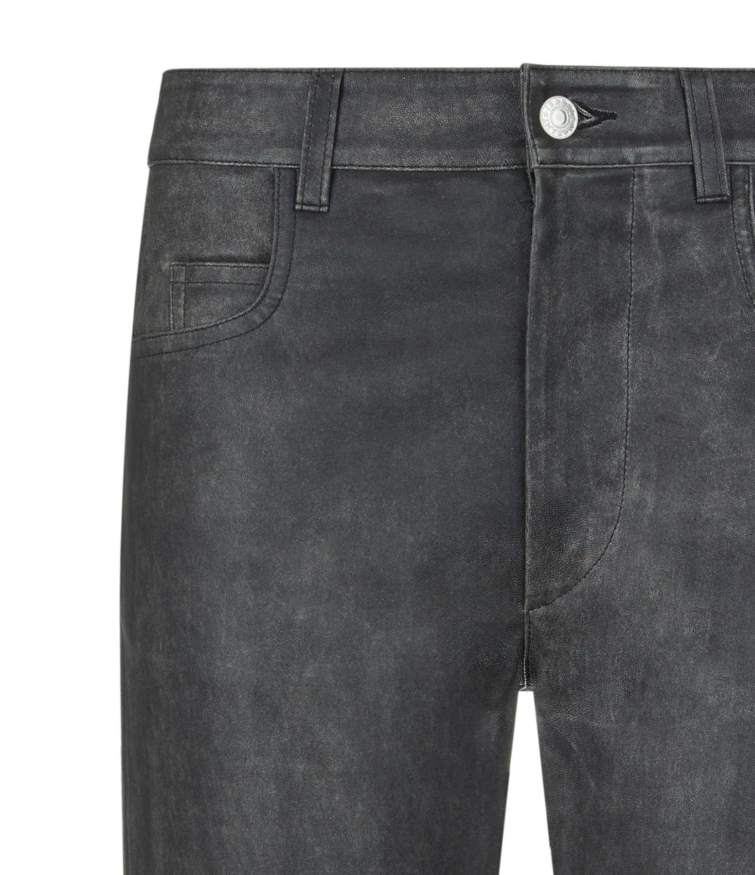 ISABEL MARANT ÉTOILE - Pantalon Tea Cuir Noir