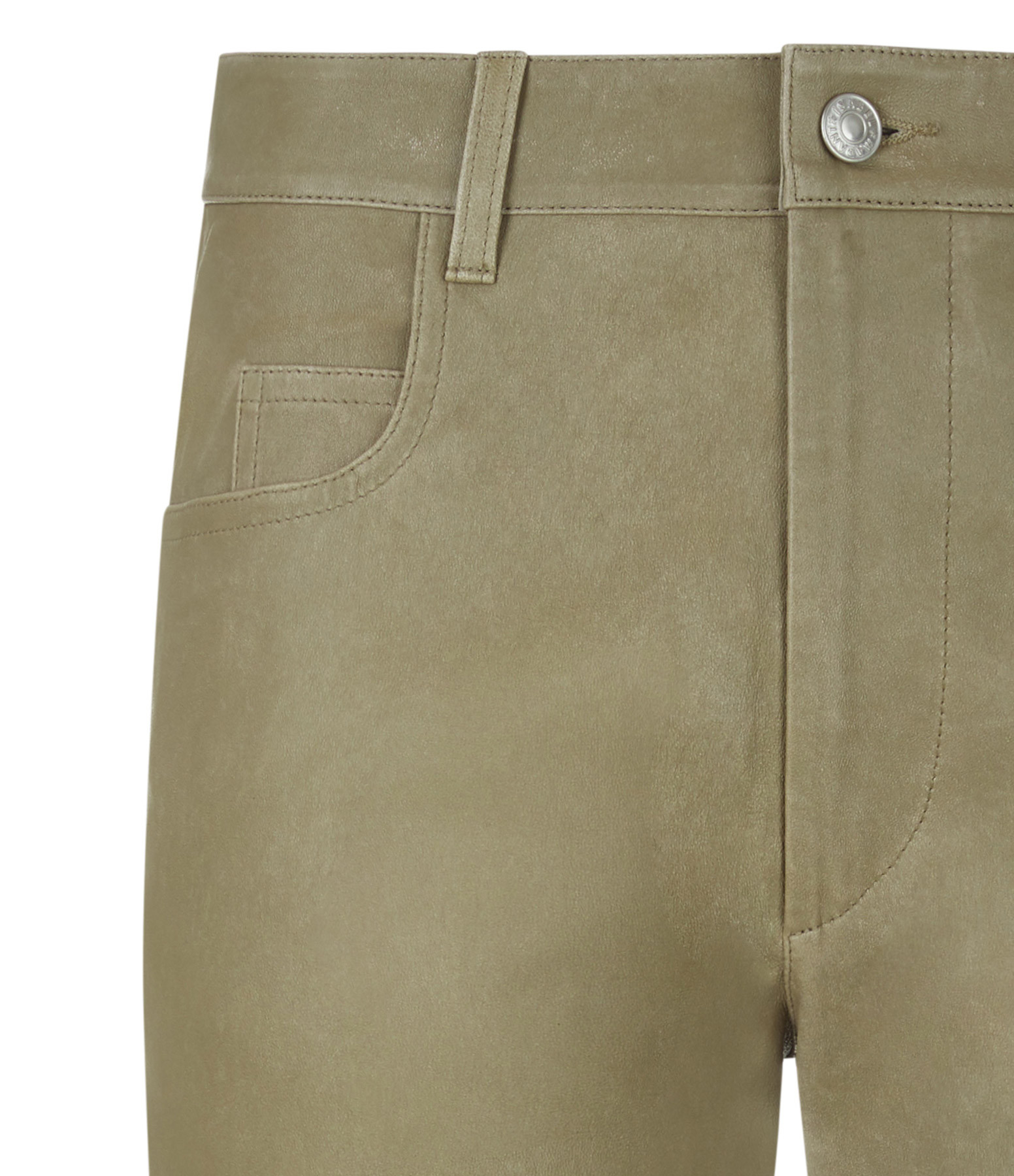 ISABEL MARANT ÉTOILE - Pantalon Tea Cuir Beige