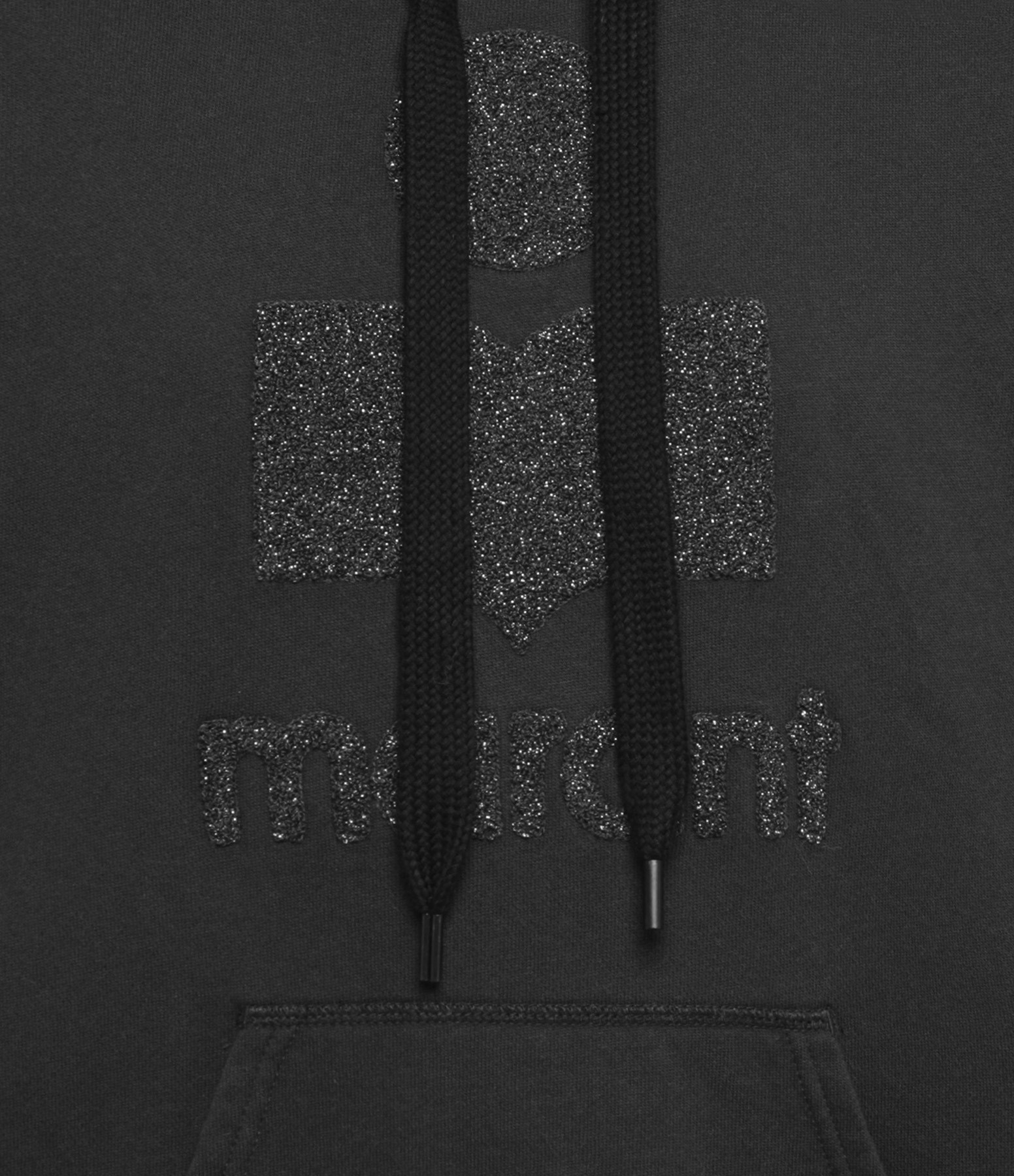 ISABEL MARANT ÉTOILE - Sweatshirt Mansel Coton Noir Argenté