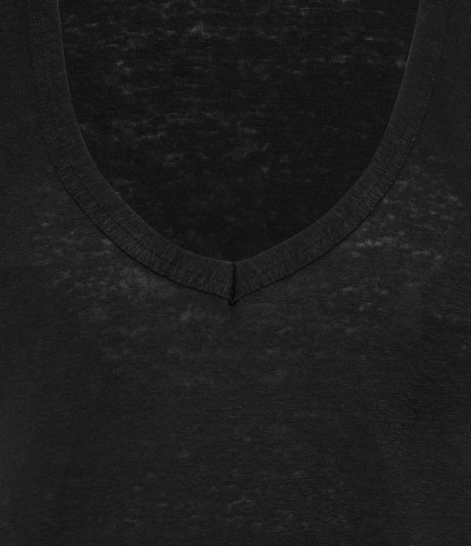 ISABEL MARANT ÉTOILE - Tee-shirt Zankou Lin Noir