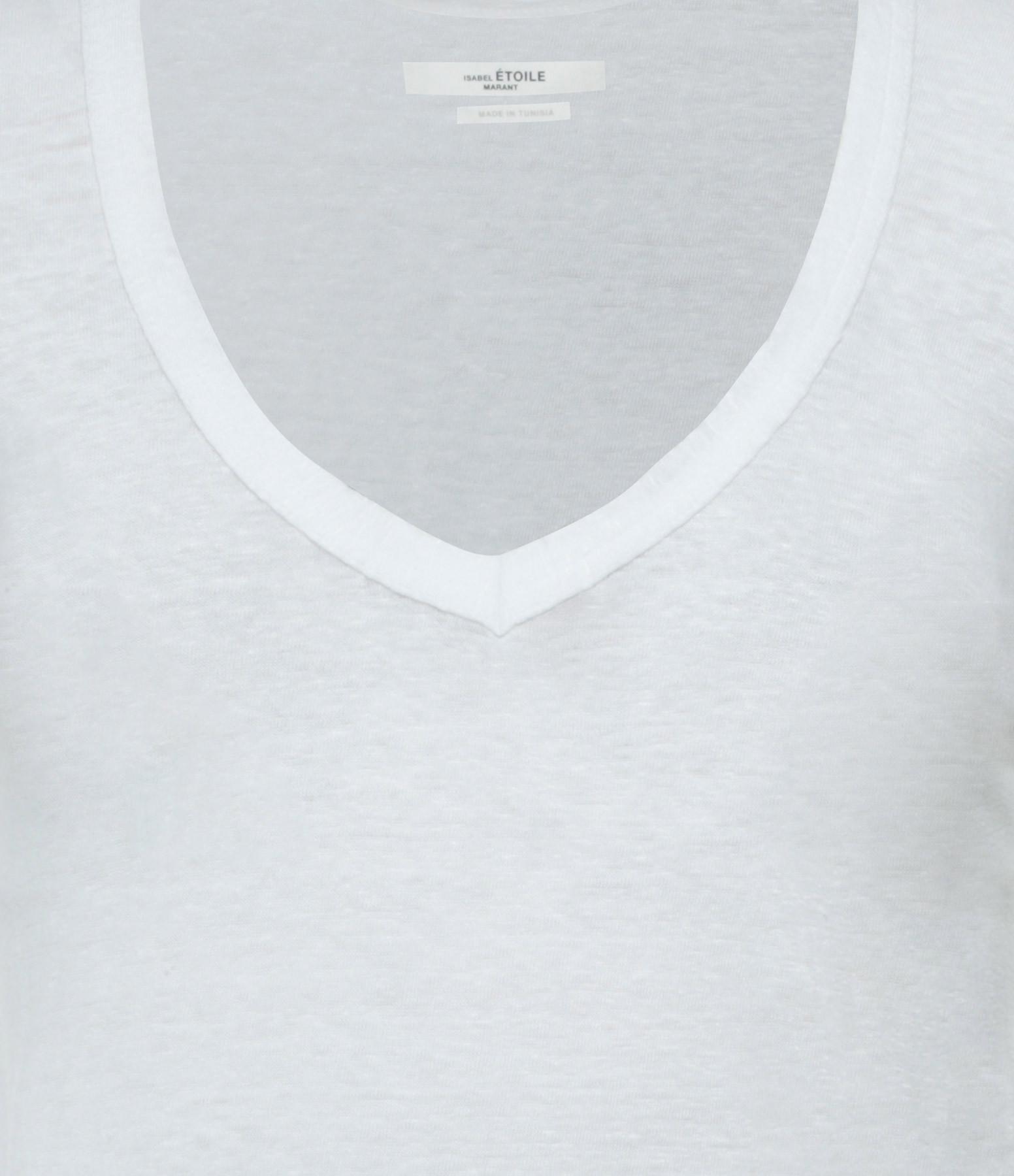 ISABEL MARANT ÉTOILE - Tee-shirt Zankou Lin Blanc