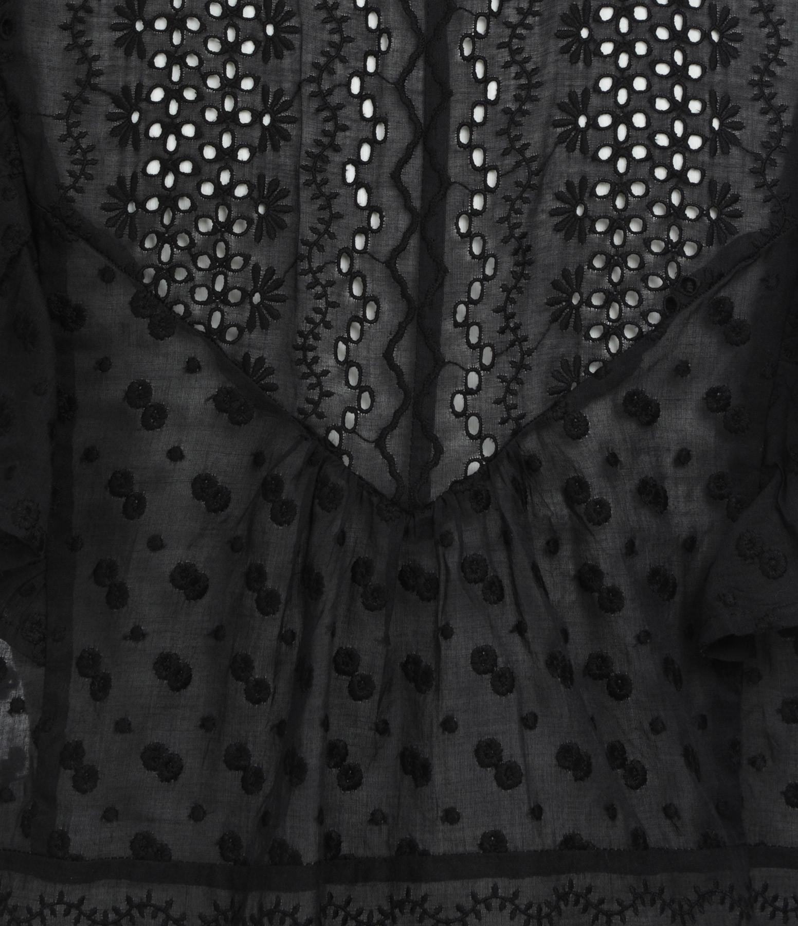 ISABEL MARANT ÉTOILE - Top Tizaina Coton Noir