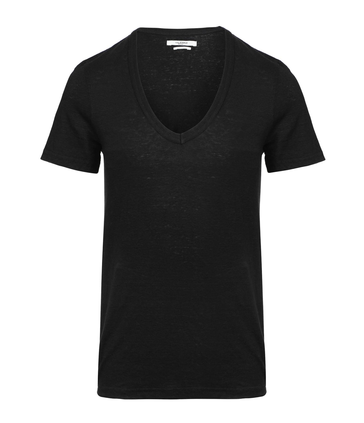 ISABEL MARANT ÉTOILE - Tee-shirt Kranger Lin Noir