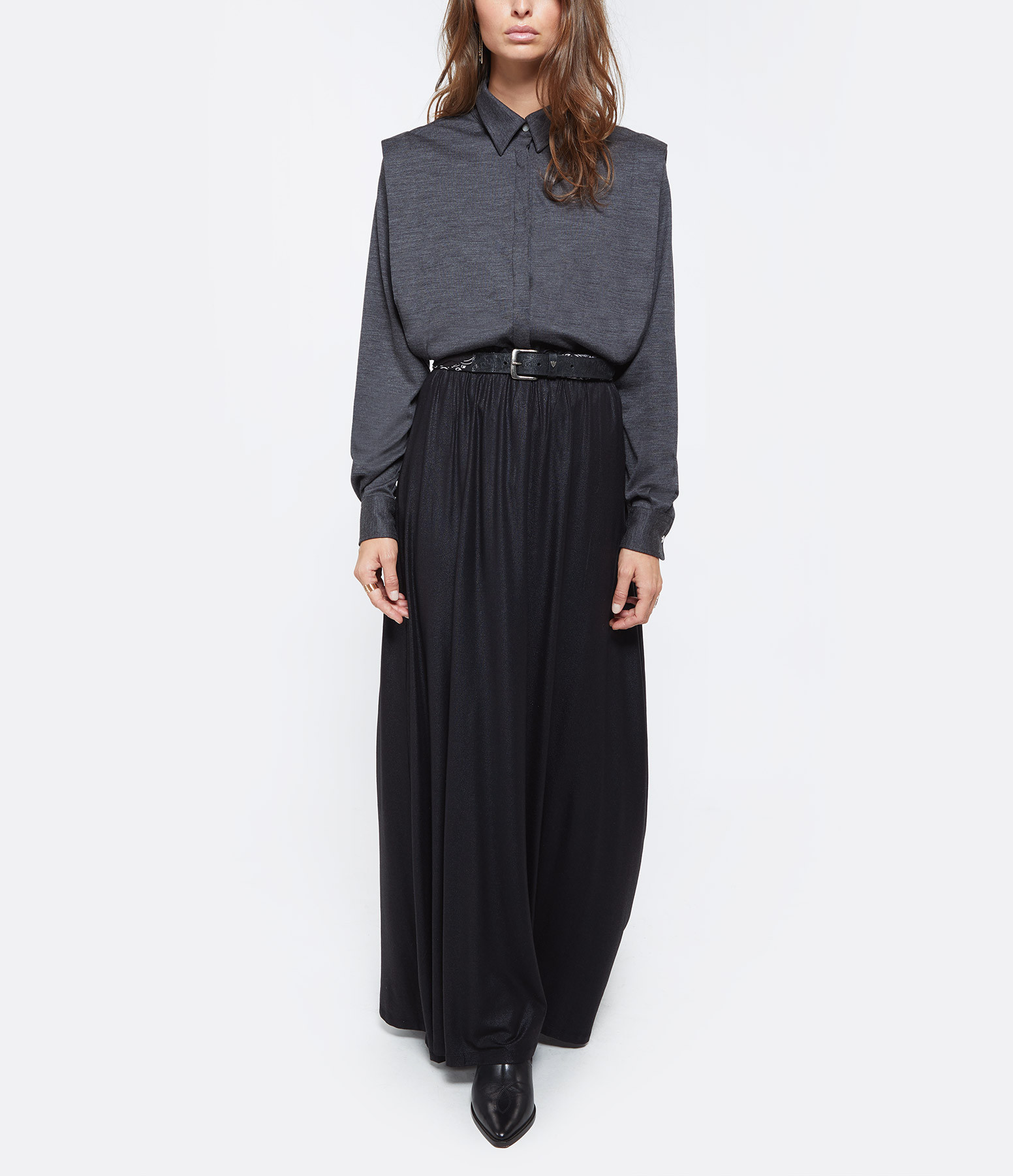 ISABEL MARANT - Top Galki Laine Anthracite