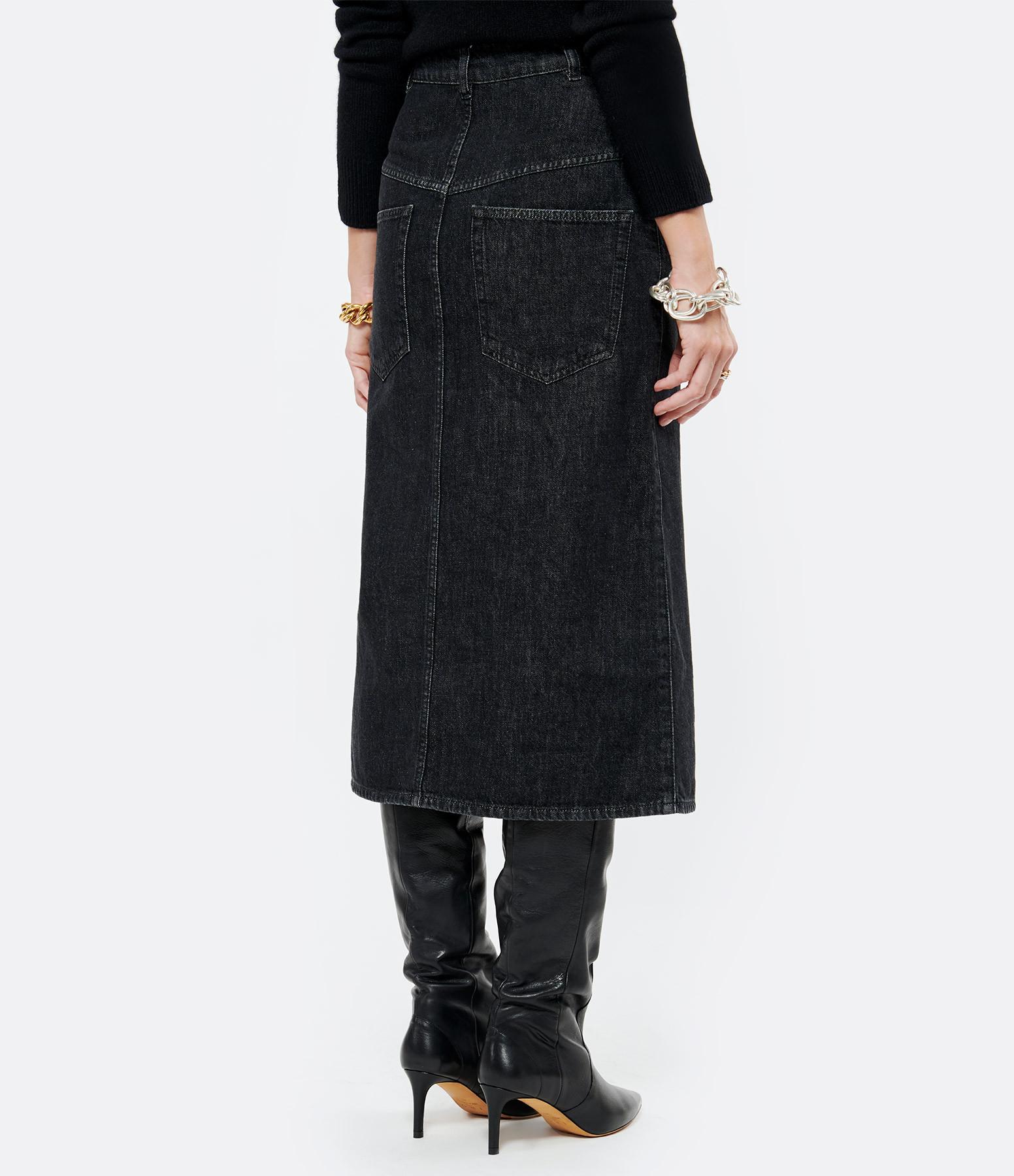 ISABEL MARANT - Jupe Dipoma Coton Noir Délavé