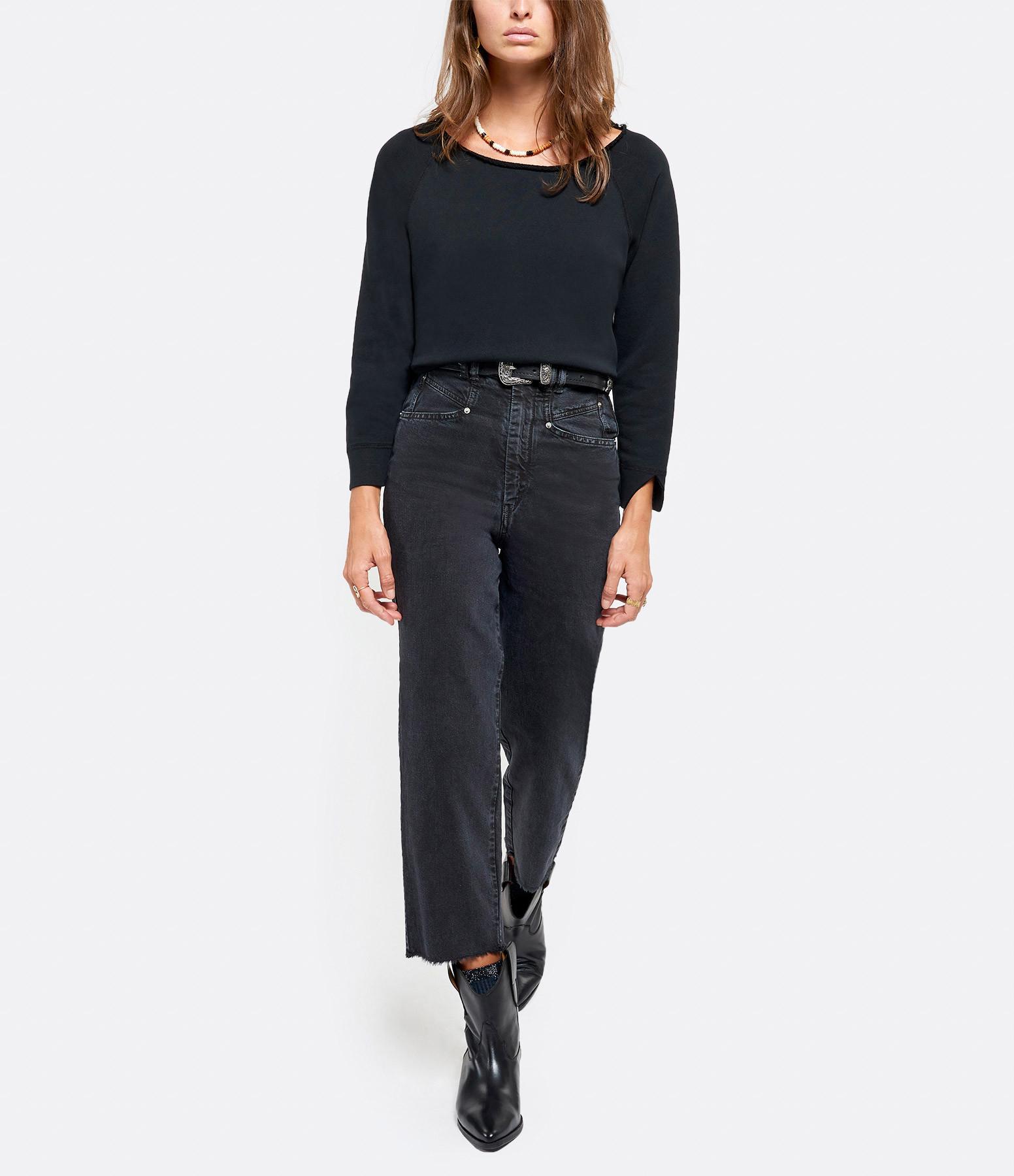 ISABEL MARANT - Pantalon Naliska Coton Noir Délavé