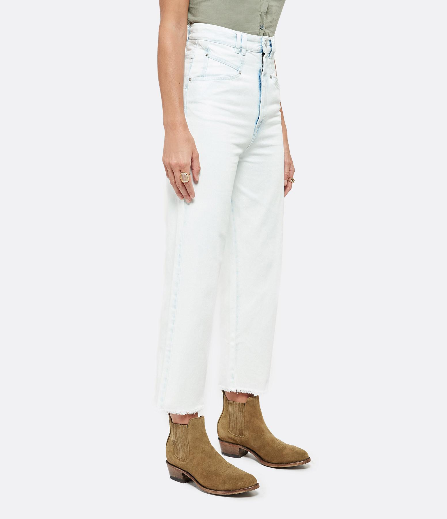 ISABEL MARANT - Pantalon Naliska Coton Bleu Clair
