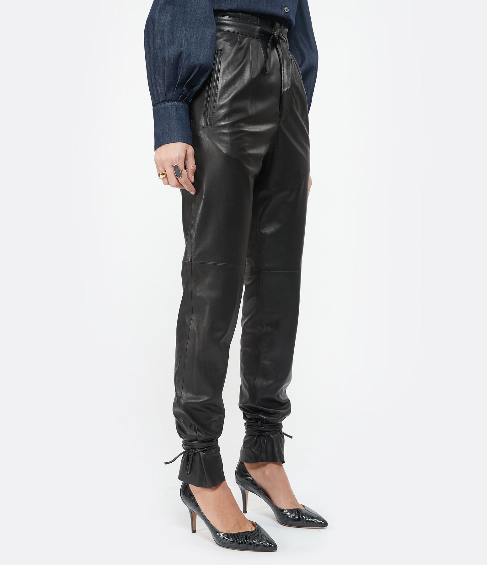 ISABEL MARANT - Pantalon Duardo Cuir Noir