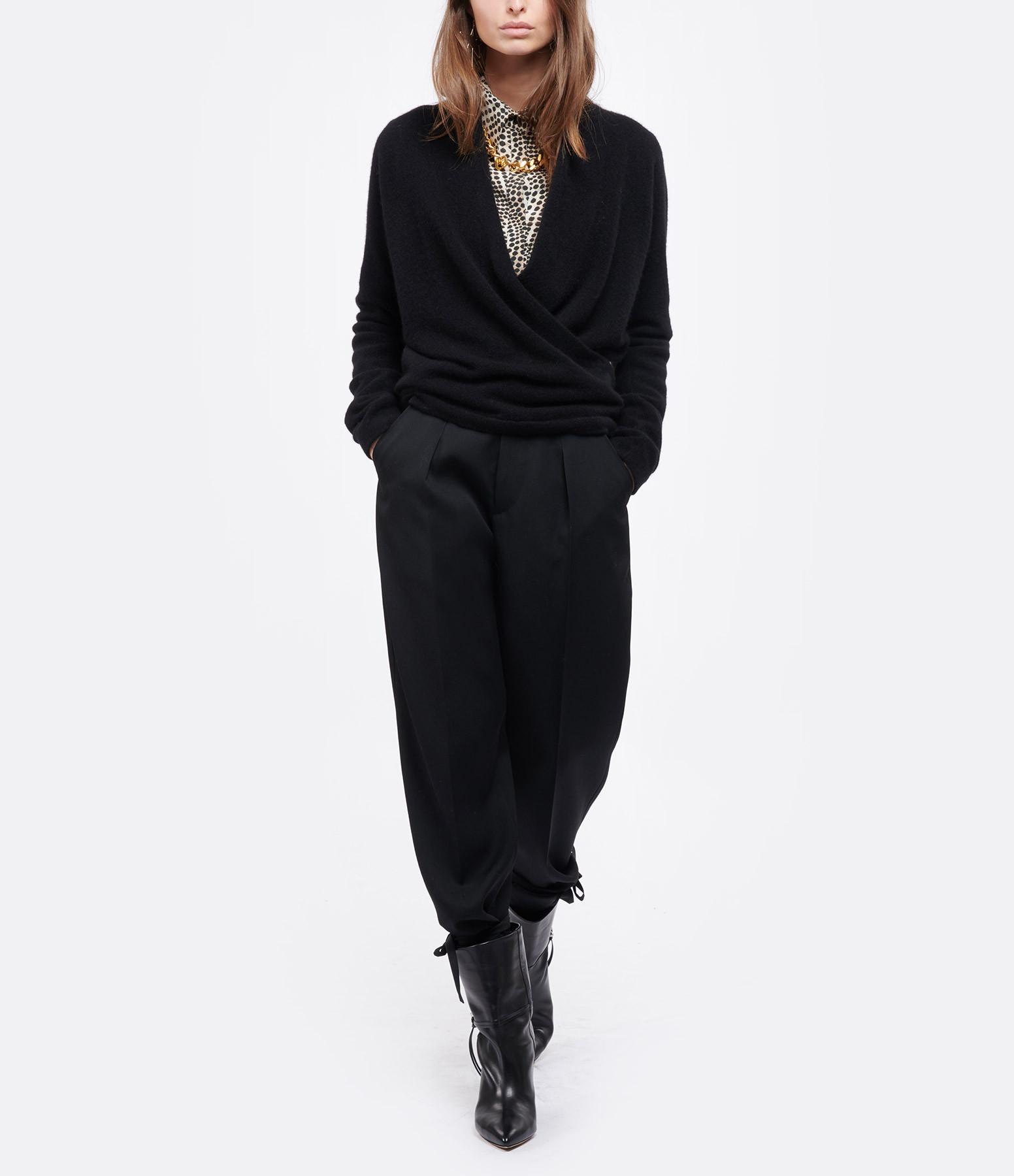 ISABEL MARANT - Pantalon Racomi Laine Noir