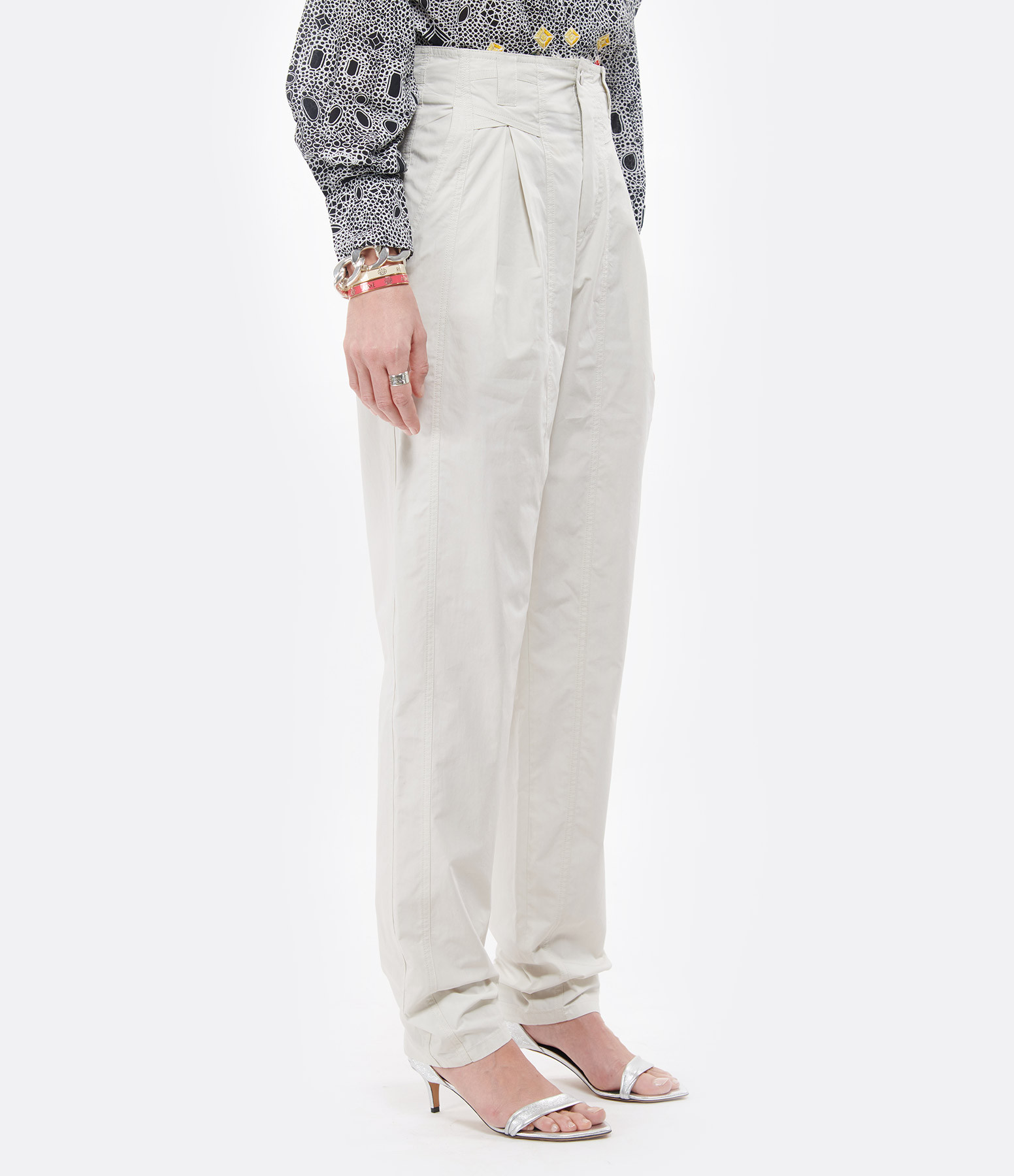 ISABEL MARANT - Pantalon Kilandy Coton Craie