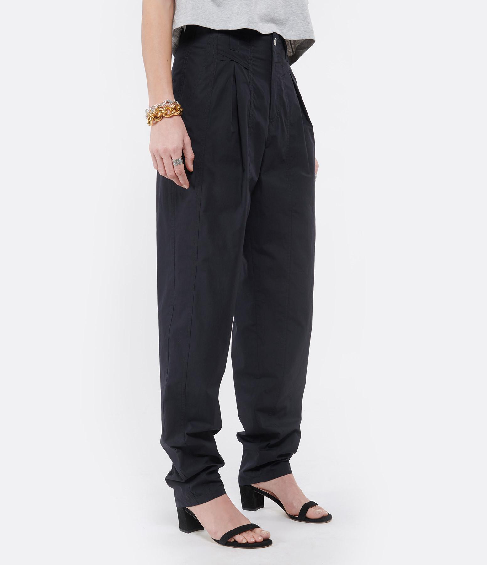 ISABEL MARANT - Pantalon Kilandy Coton Noir