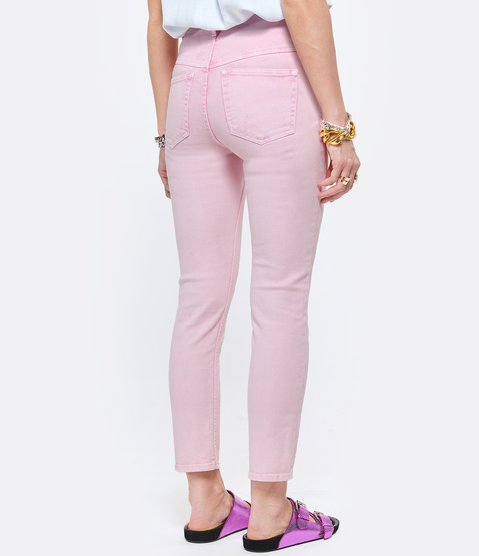 ISABEL MARANT - Pantalon Dilianesr Coton Rose Clair