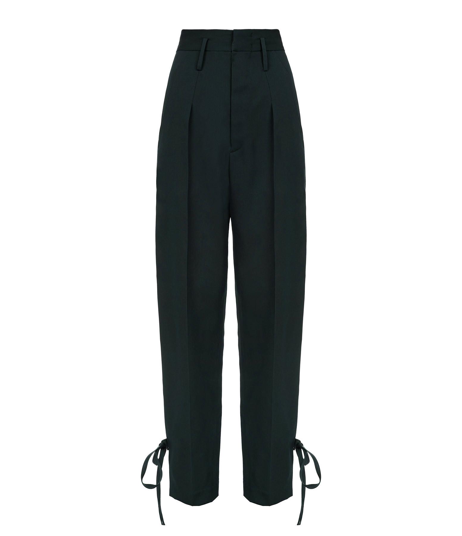 ISABEL MARANT - Pantalon Racomi Laine Vert Foncé