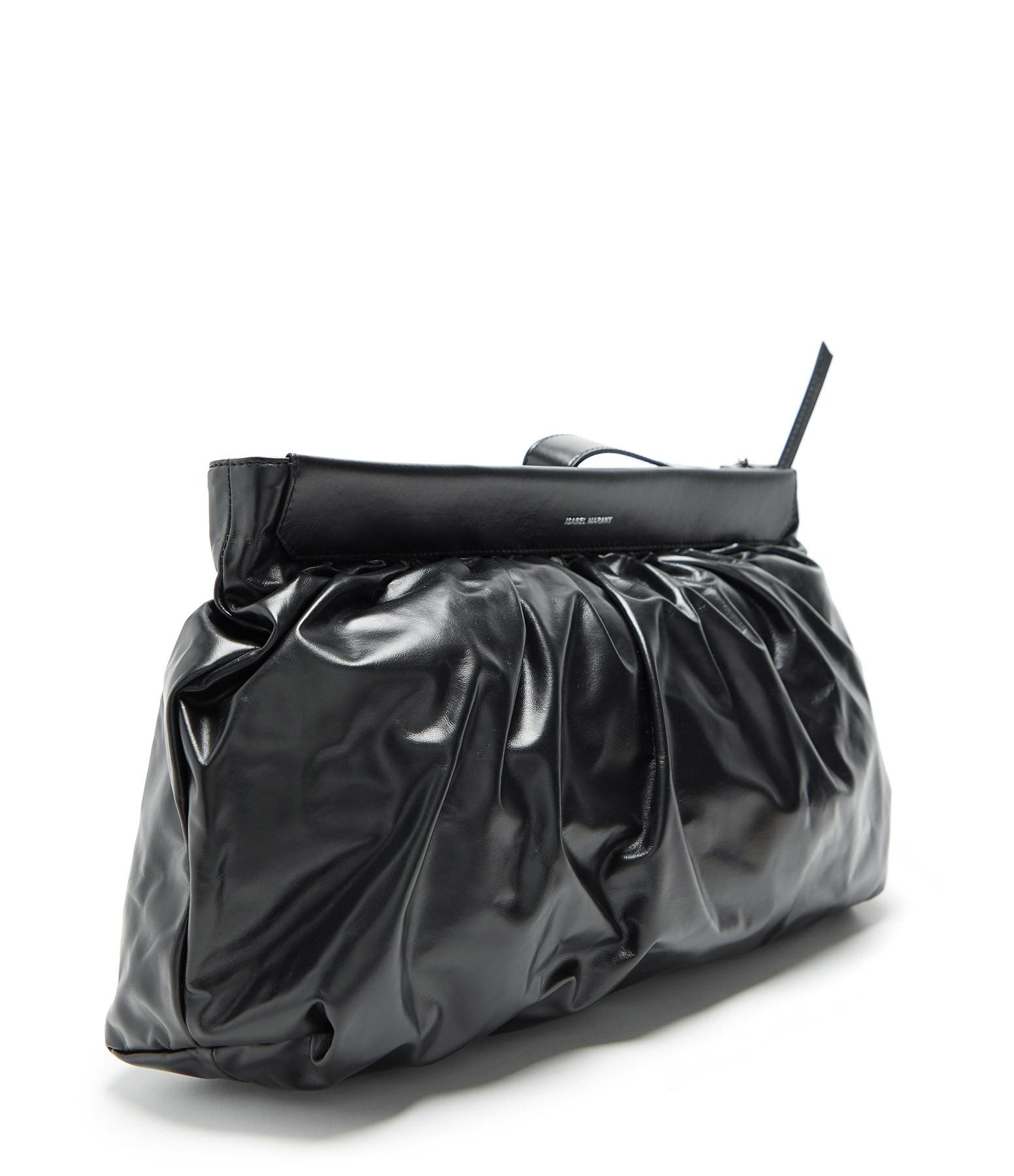 ISABEL MARANT - Pochette Luzel Cuir Noir