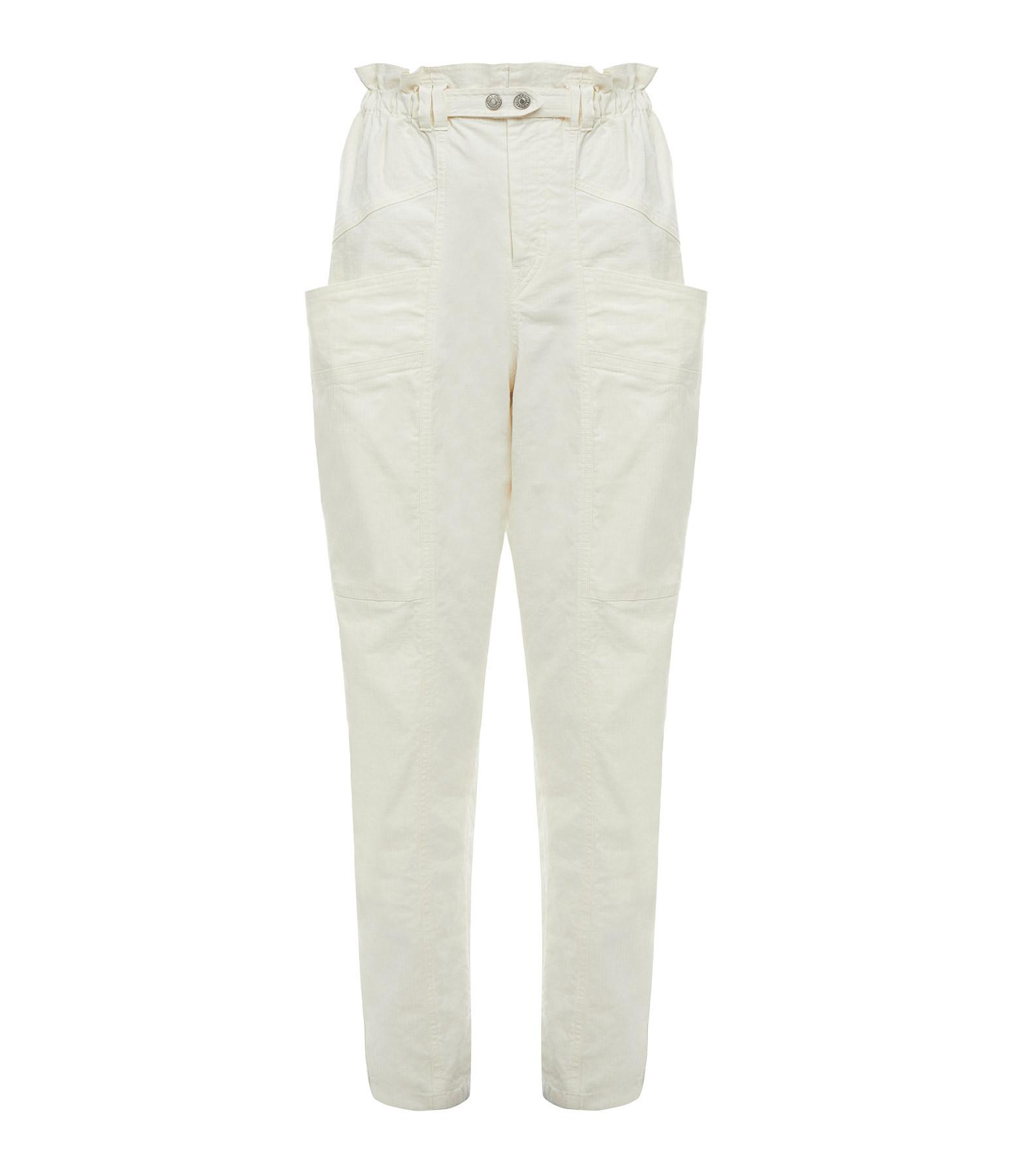 ISABEL MARANT - Pantalon Enucie Lin Coton Écru