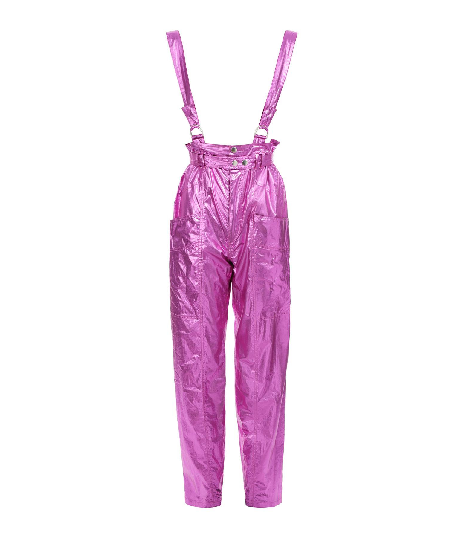 ISABEL MARANT - Pantalon Gilekla Coton Rose Métallisé