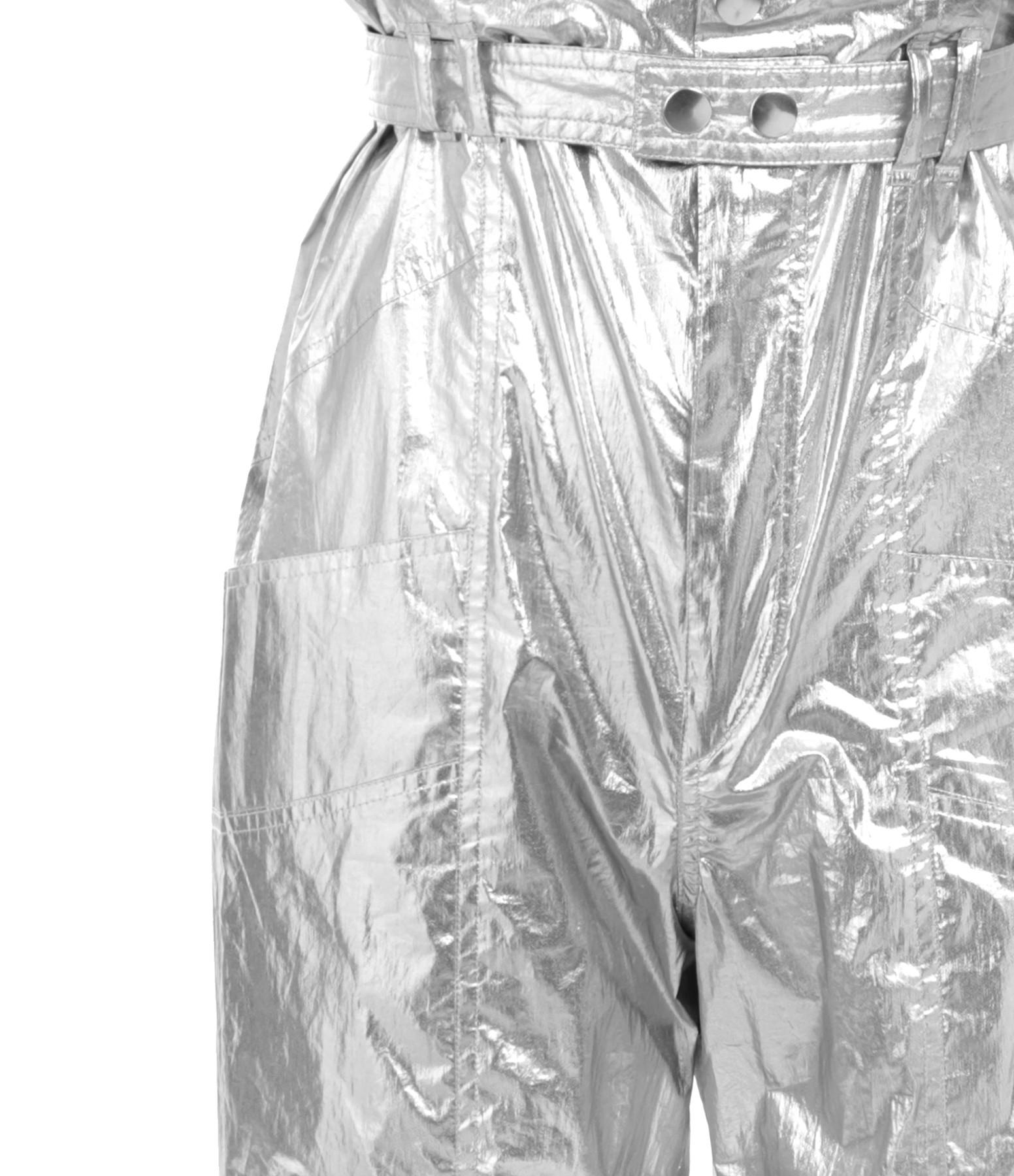 ISABEL MARANT - Pantalon Gilekla Coton Argenté