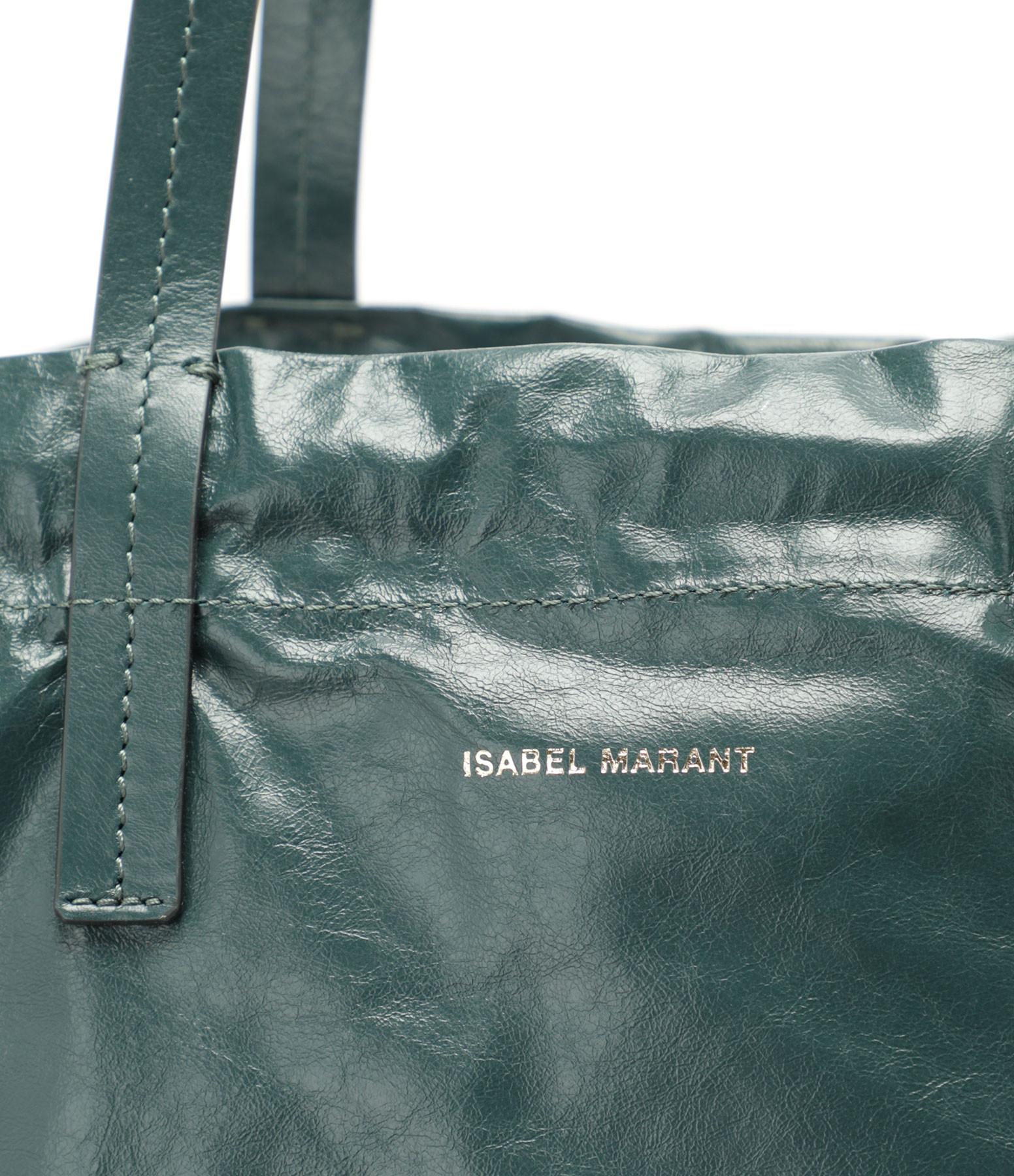 ISABEL MARANT - Sac Chagaar Cuir Vert Foncé