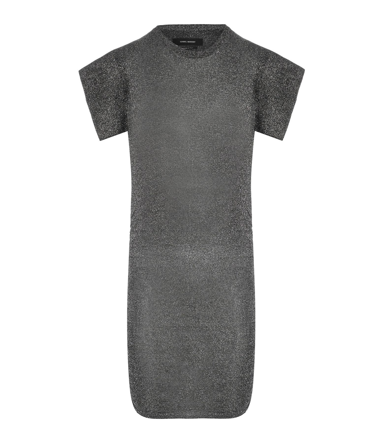 ISABEL MARANT - Robe Marthe Noir Argenté