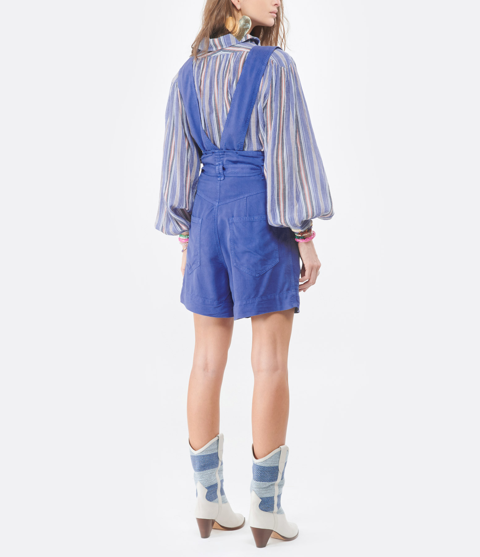 ISABEL MARANT - Short Flink Bleu Électrique