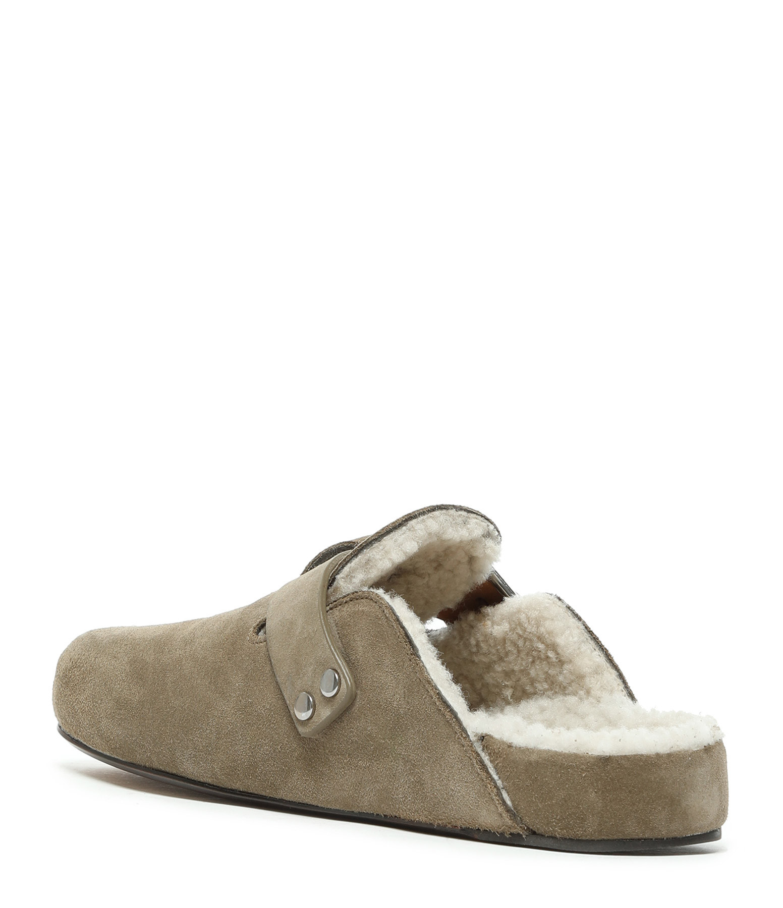 ISABEL MARANT - Mules Mirvin Cuir Taupe