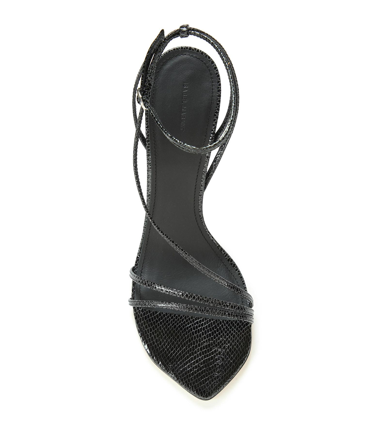 ISABEL MARANT - Sandales Axee Cuir Noir