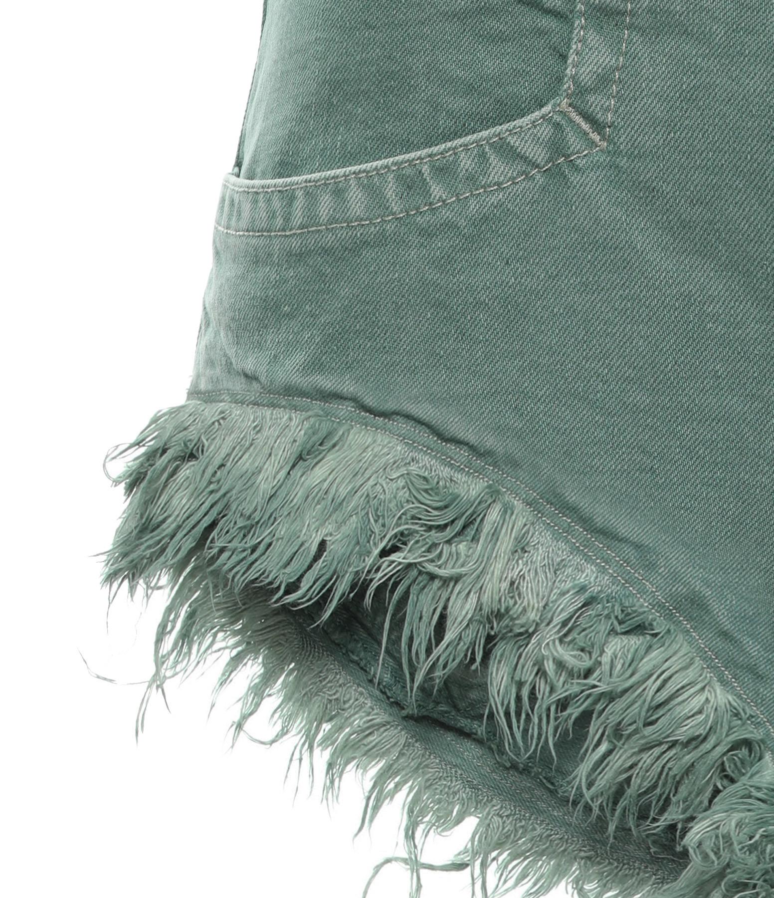 ISABEL MARANT - Short Eneida Coton Celadon