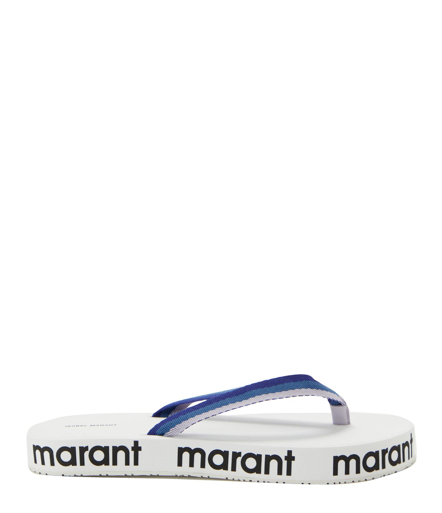 ISABEL MARANT - Tongs Compensées Tae Bleu