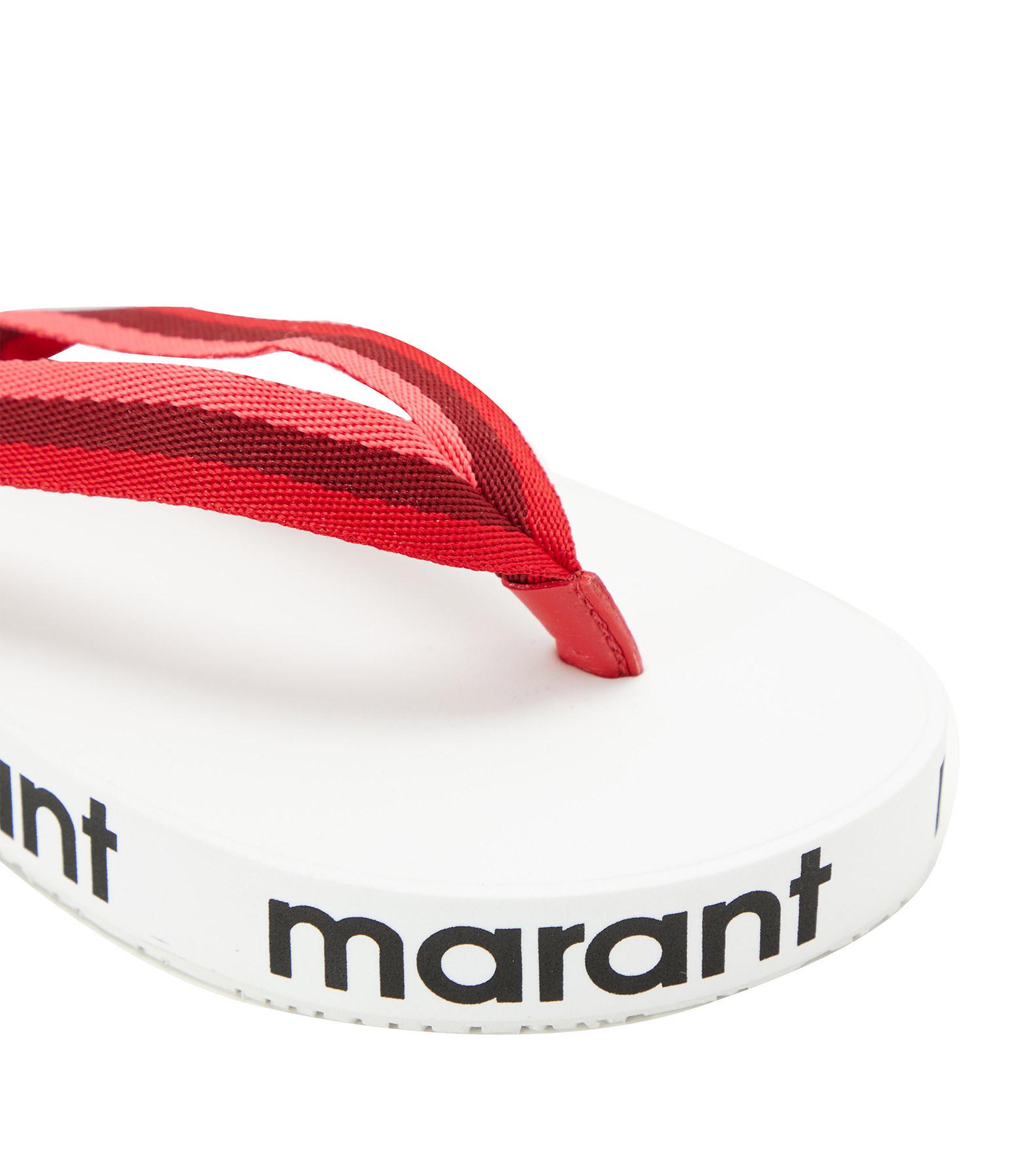 ISABEL MARANT - Tongs Compensées Tae Rouge