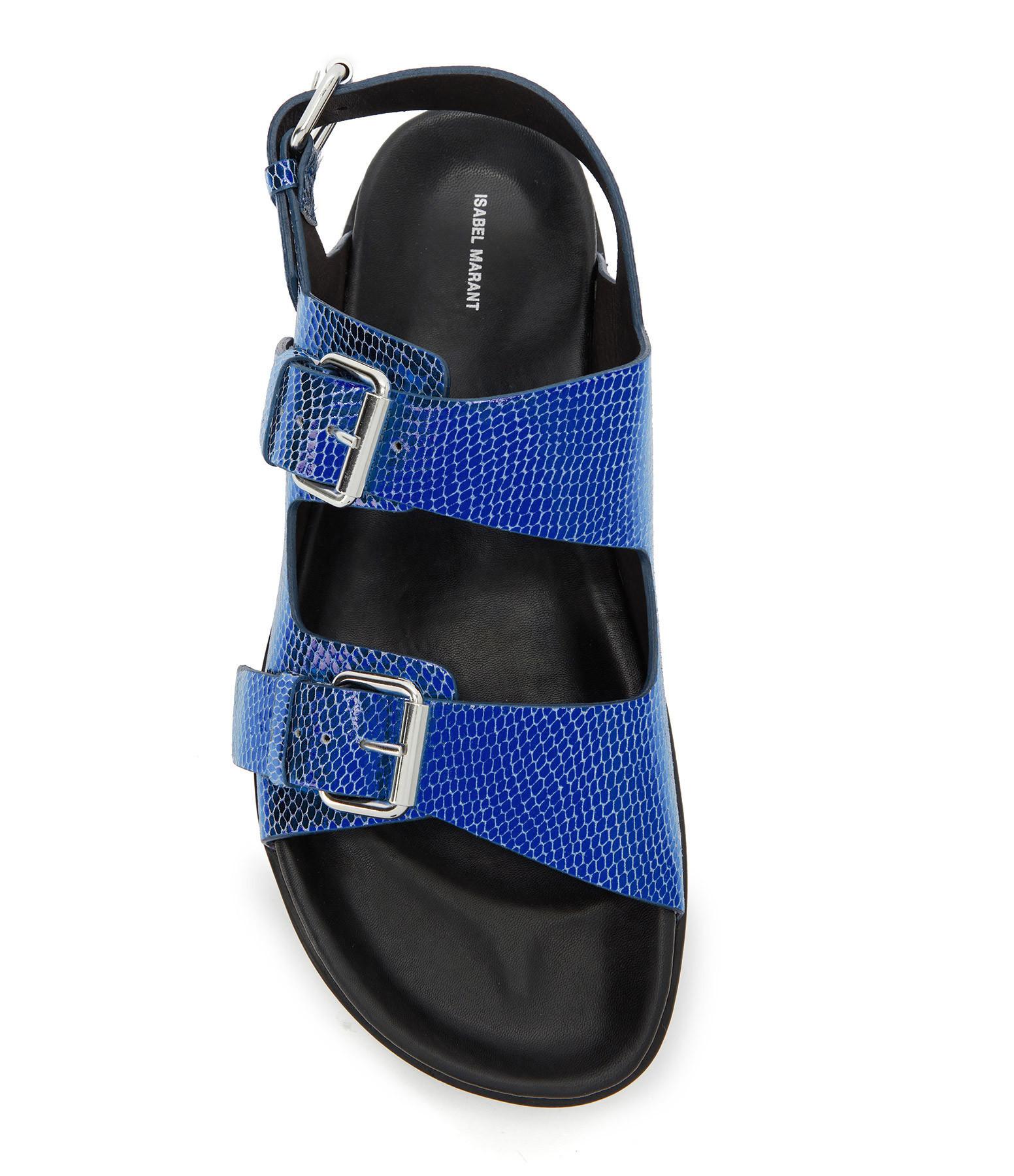 ISABEL MARANT - Sandales Ophie Bleu