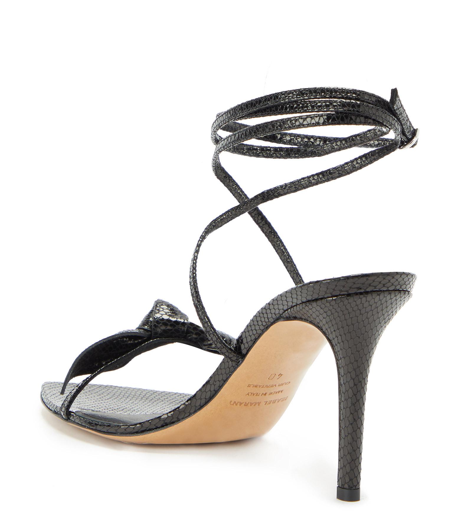 ISABEL MARANT - Sandales Alt Cuir Noir