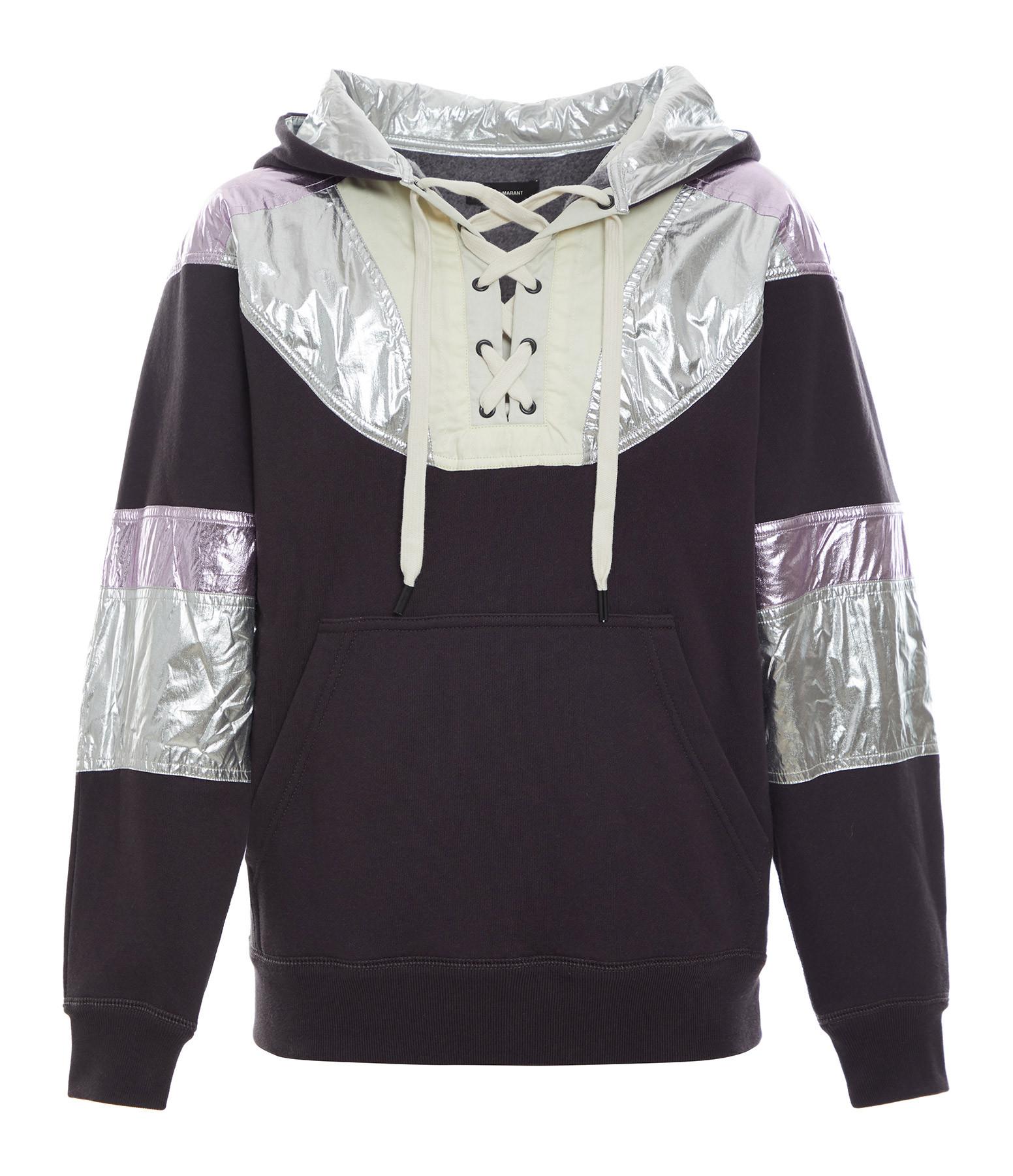 ISABEL MARANT - Sweatshirt Minelia Coton Noir Délavé