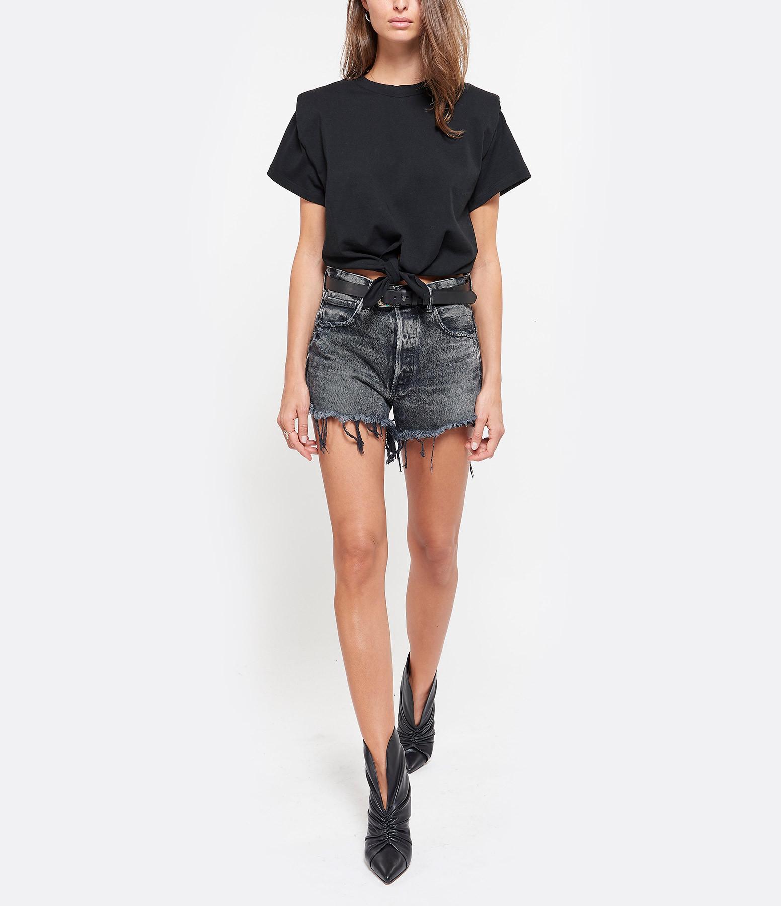 ISABEL MARANT - Tee-shirt Belita Noué Coton Noir