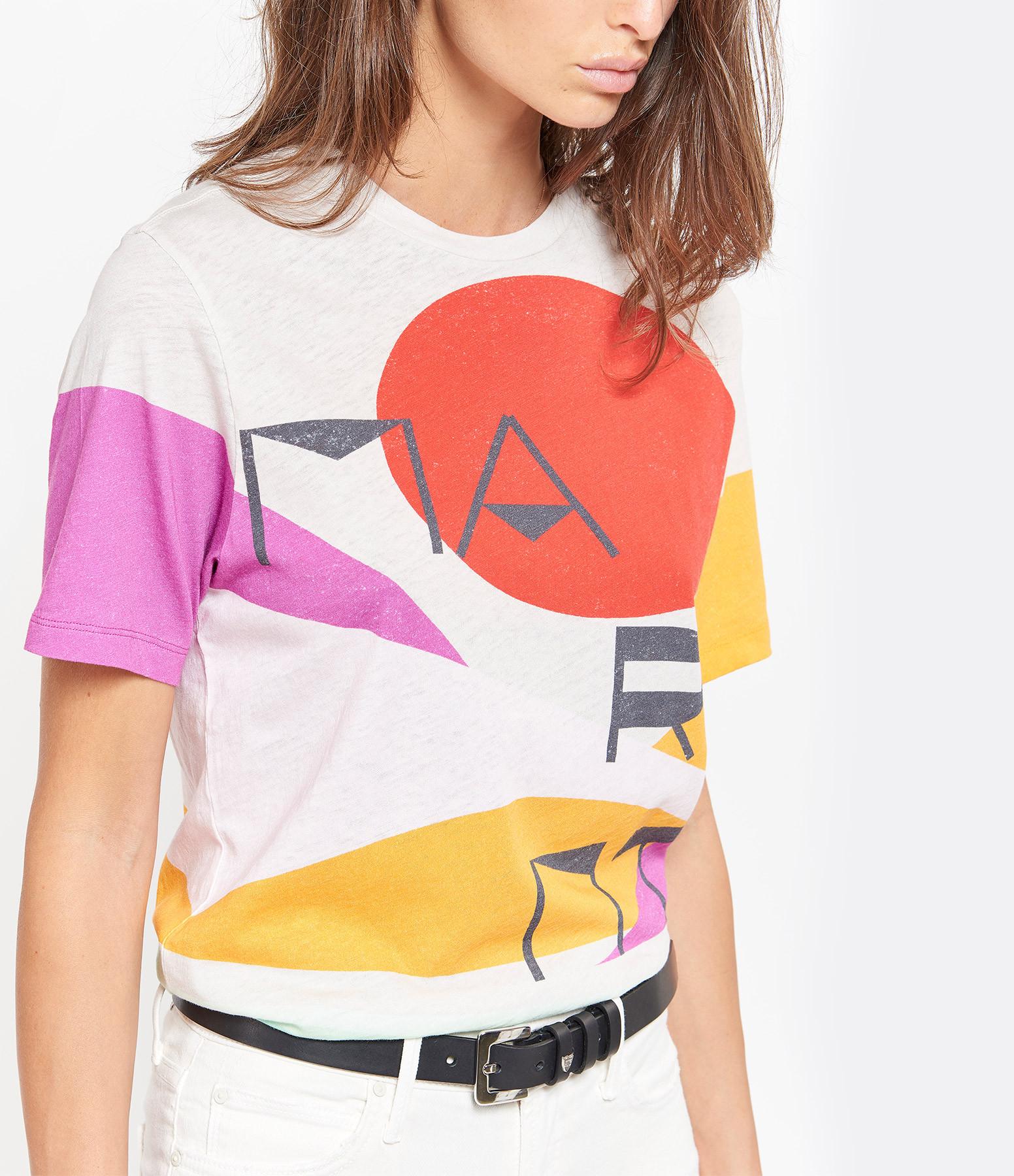 ISABEL MARANT - Tee-shirt Zewel Coton Ecru