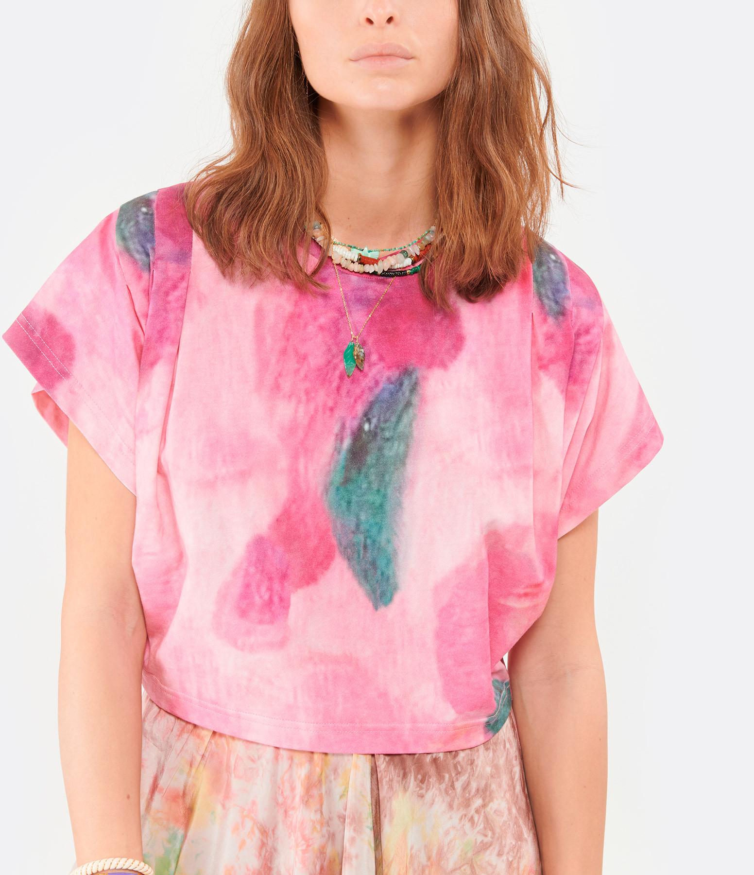 ISABEL MARANT - Tee-shirt Zinalia Coton Rose