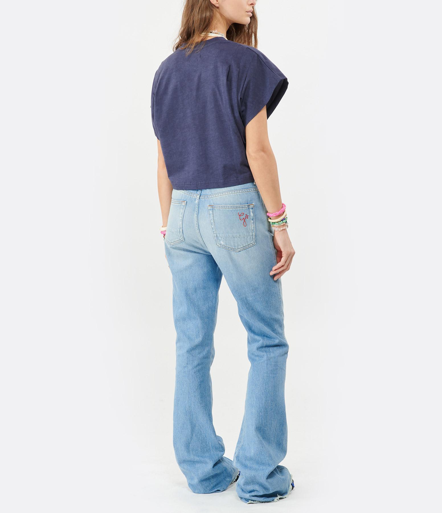 ISABEL MARANT - Tee-shirt Zinalia Coton Bleu Nuit