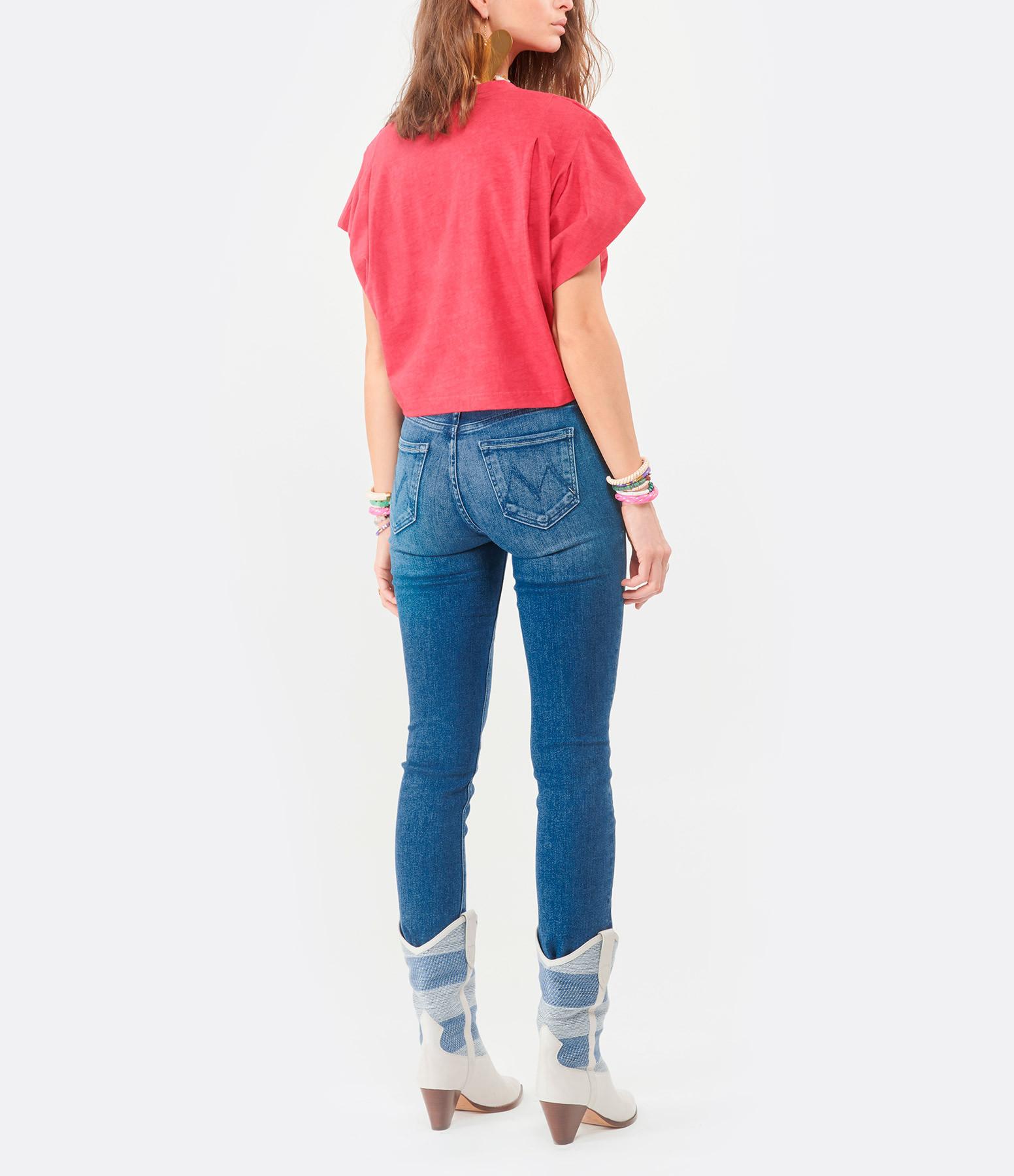 ISABEL MARANT - Tee-shirt Zinalia Coton Framboise