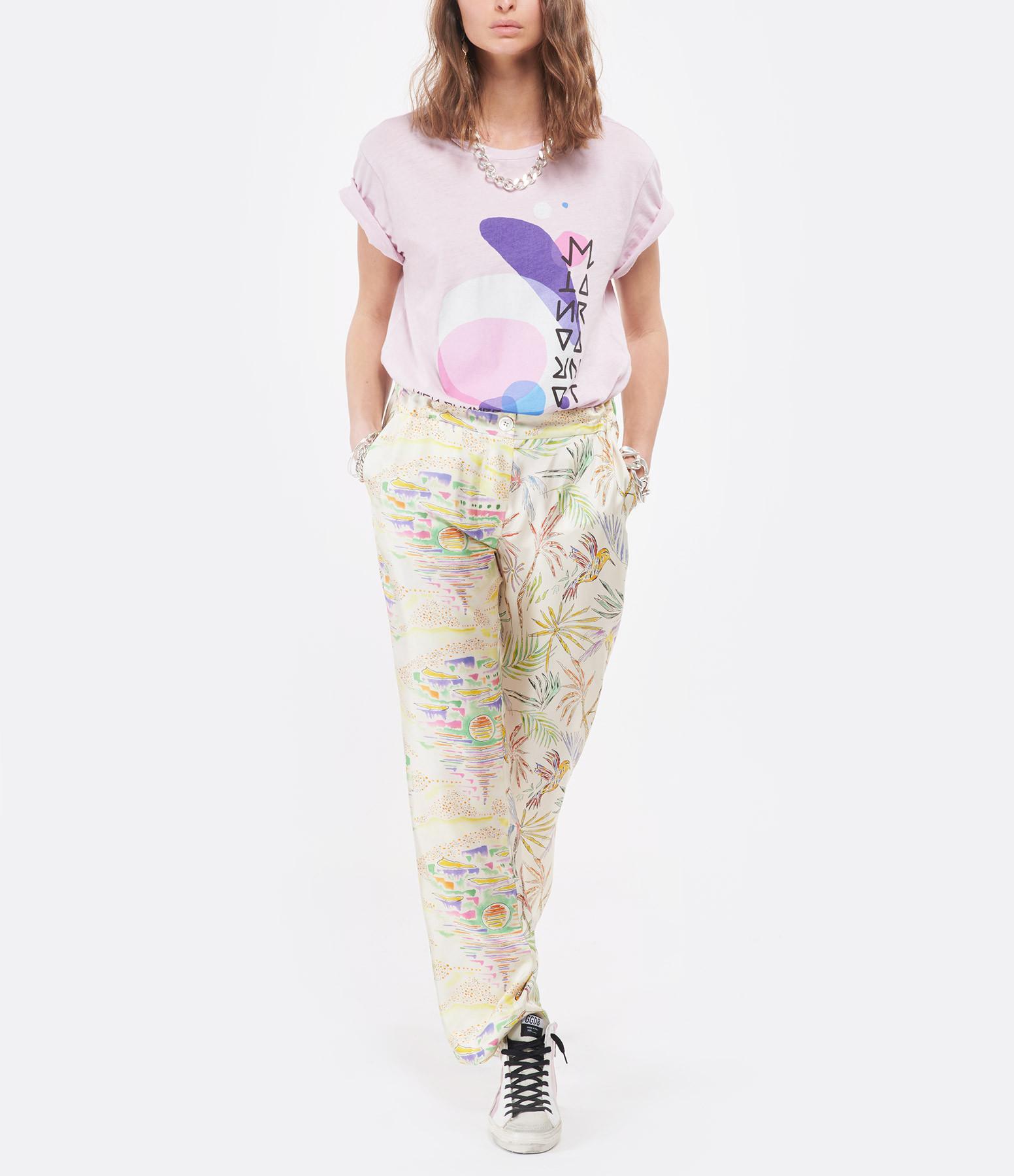 ISABEL MARANT - Tee-shirt Zaffer Coton Rose Clair