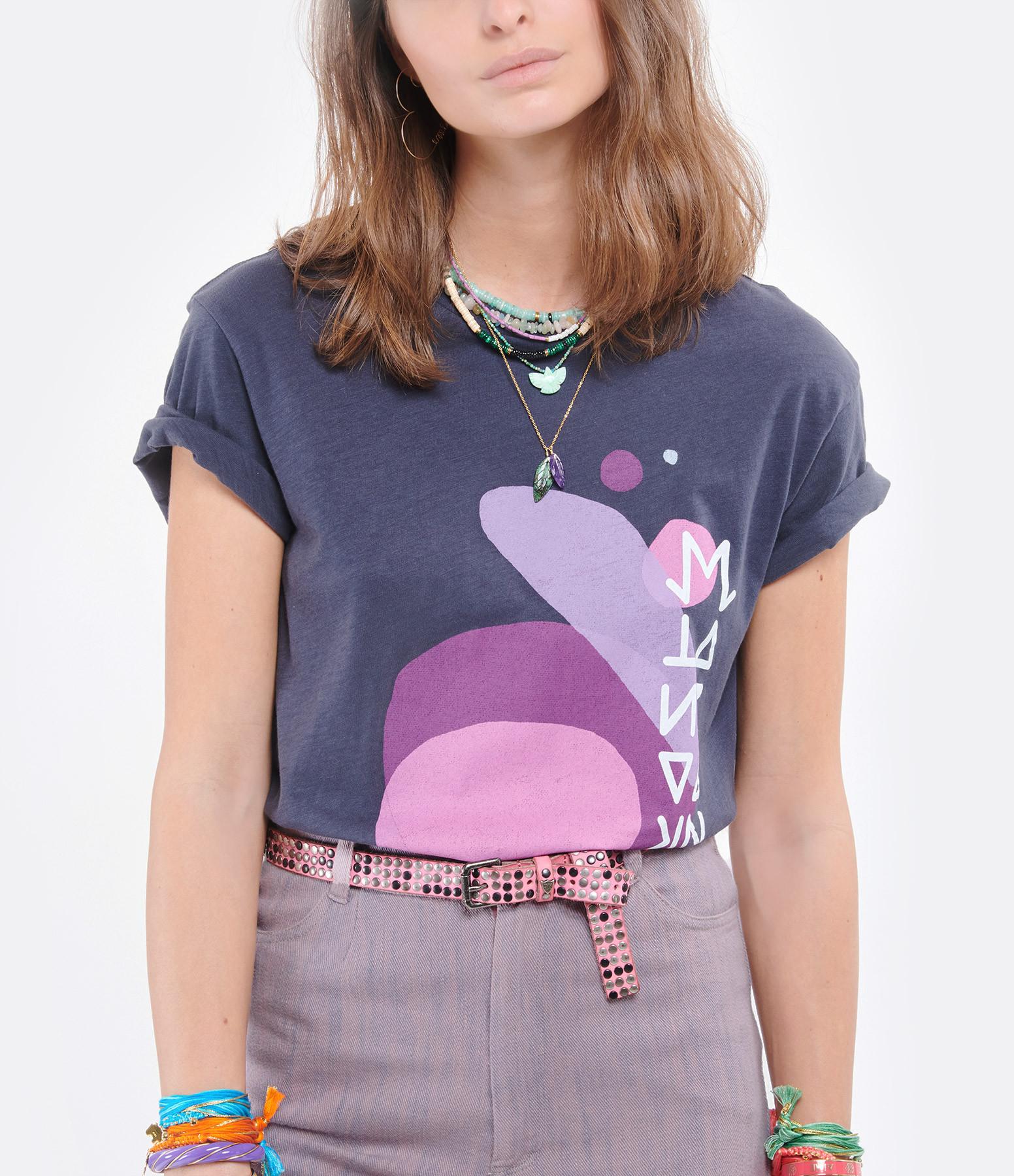 ISABEL MARANT - Tee-shirt Zaffer Coton Noir Délavé